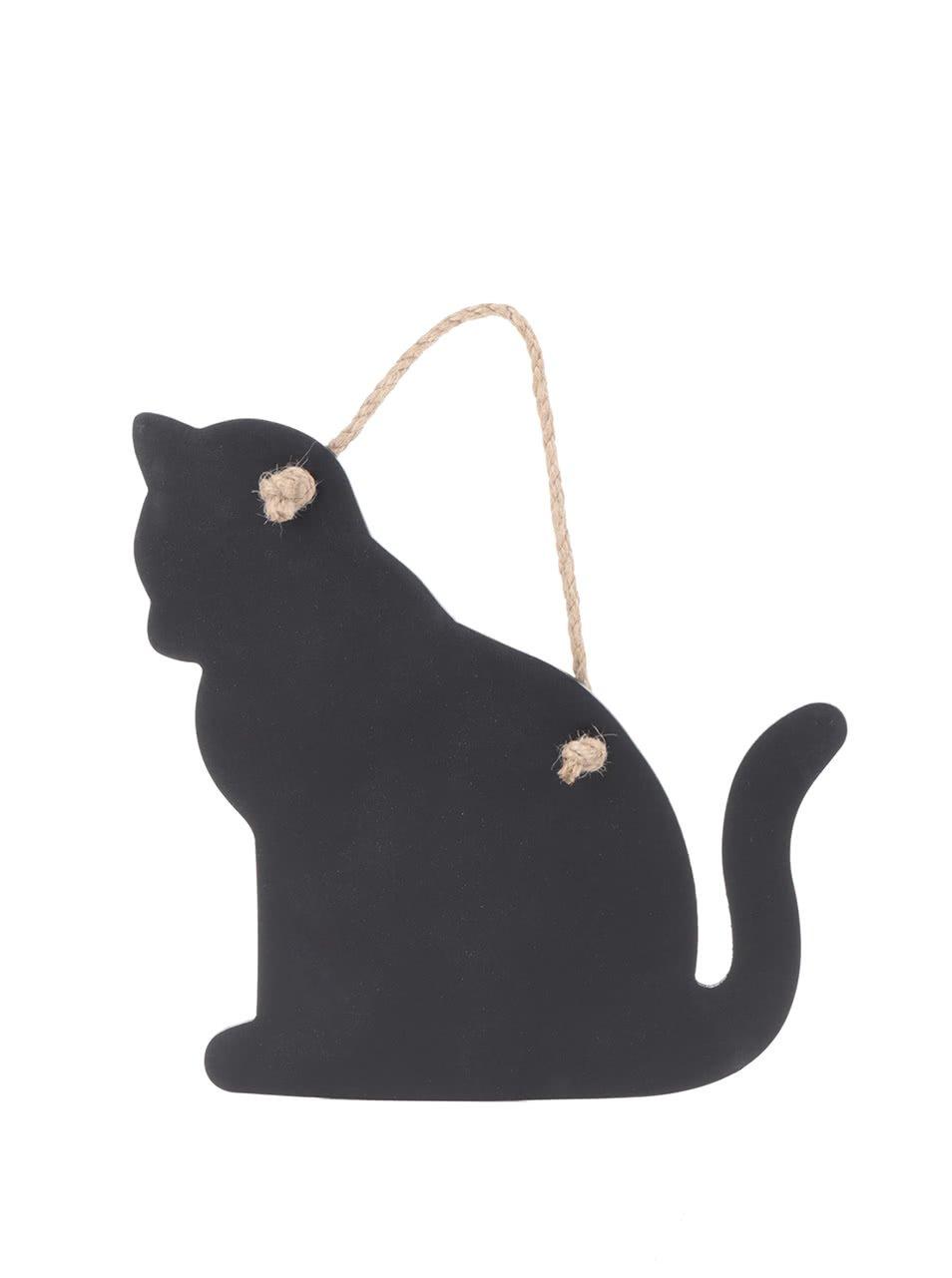 Černá tabule ve tvaru kočky Sass & Belle
