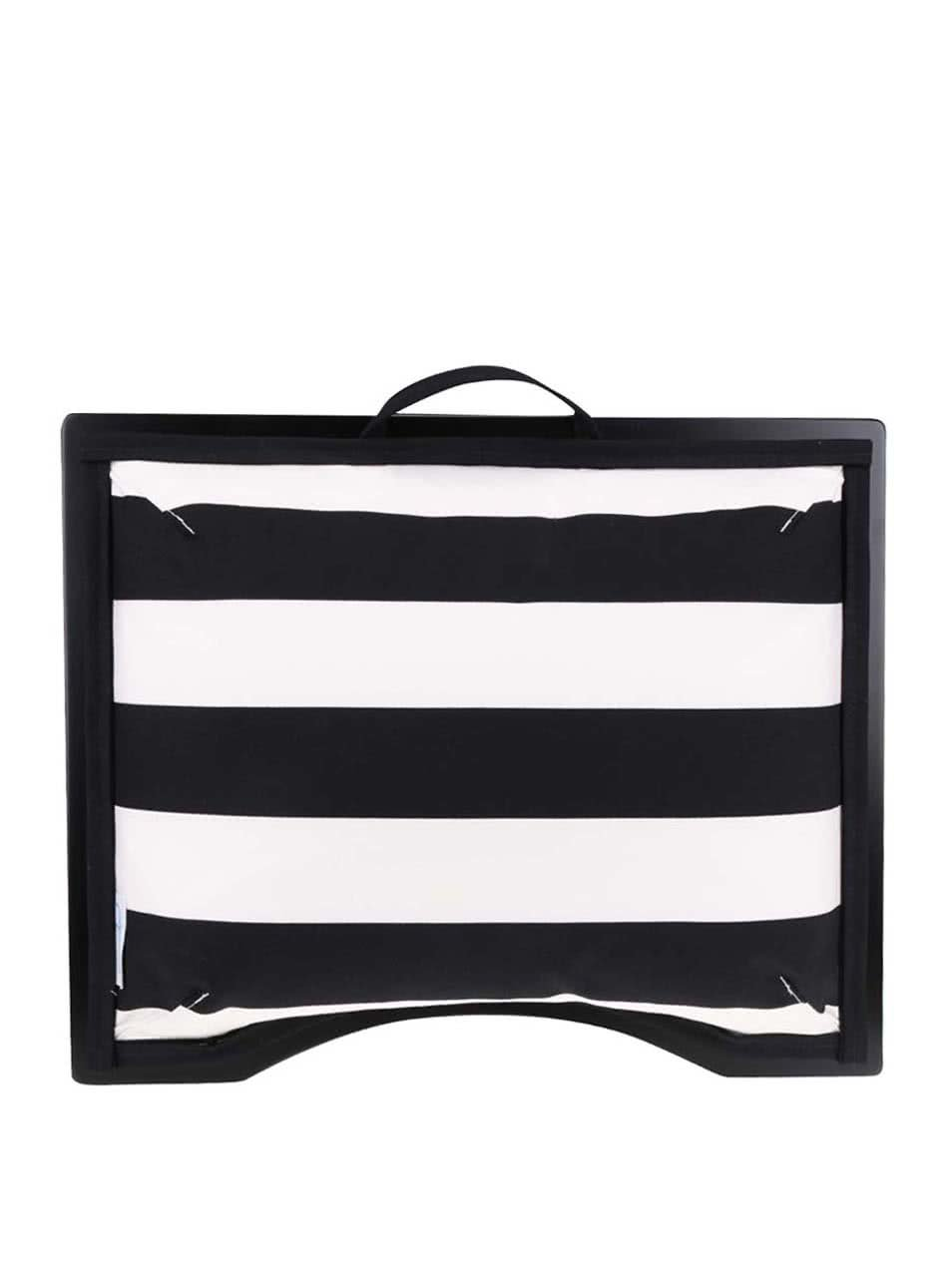 Bílo-černá pruhovaná podložka pod notebook Popono