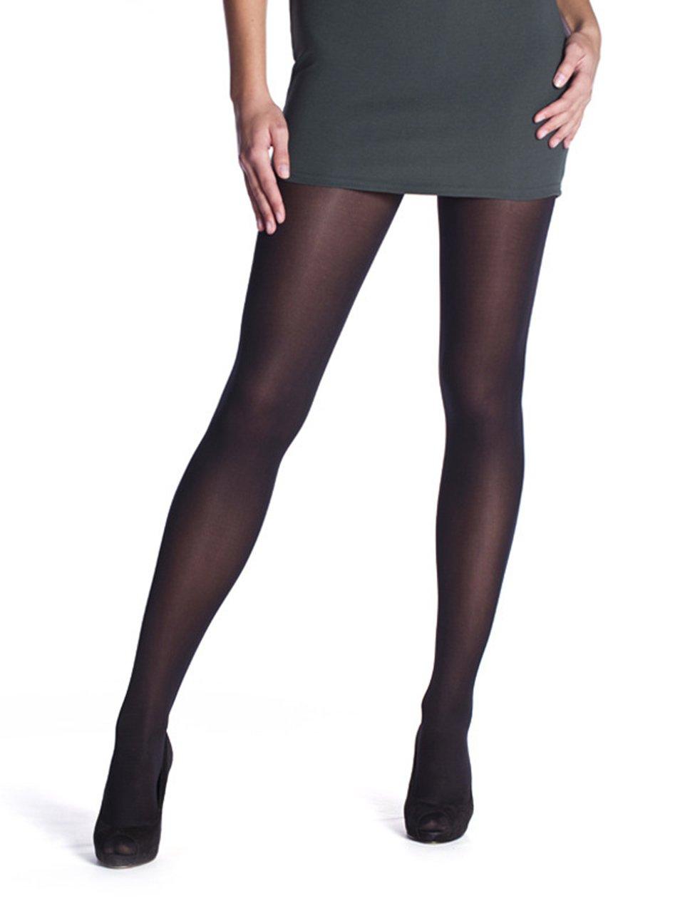 Sada dvou punčochových kalhot v černé barvě Bellinda Opaque 60 DEN