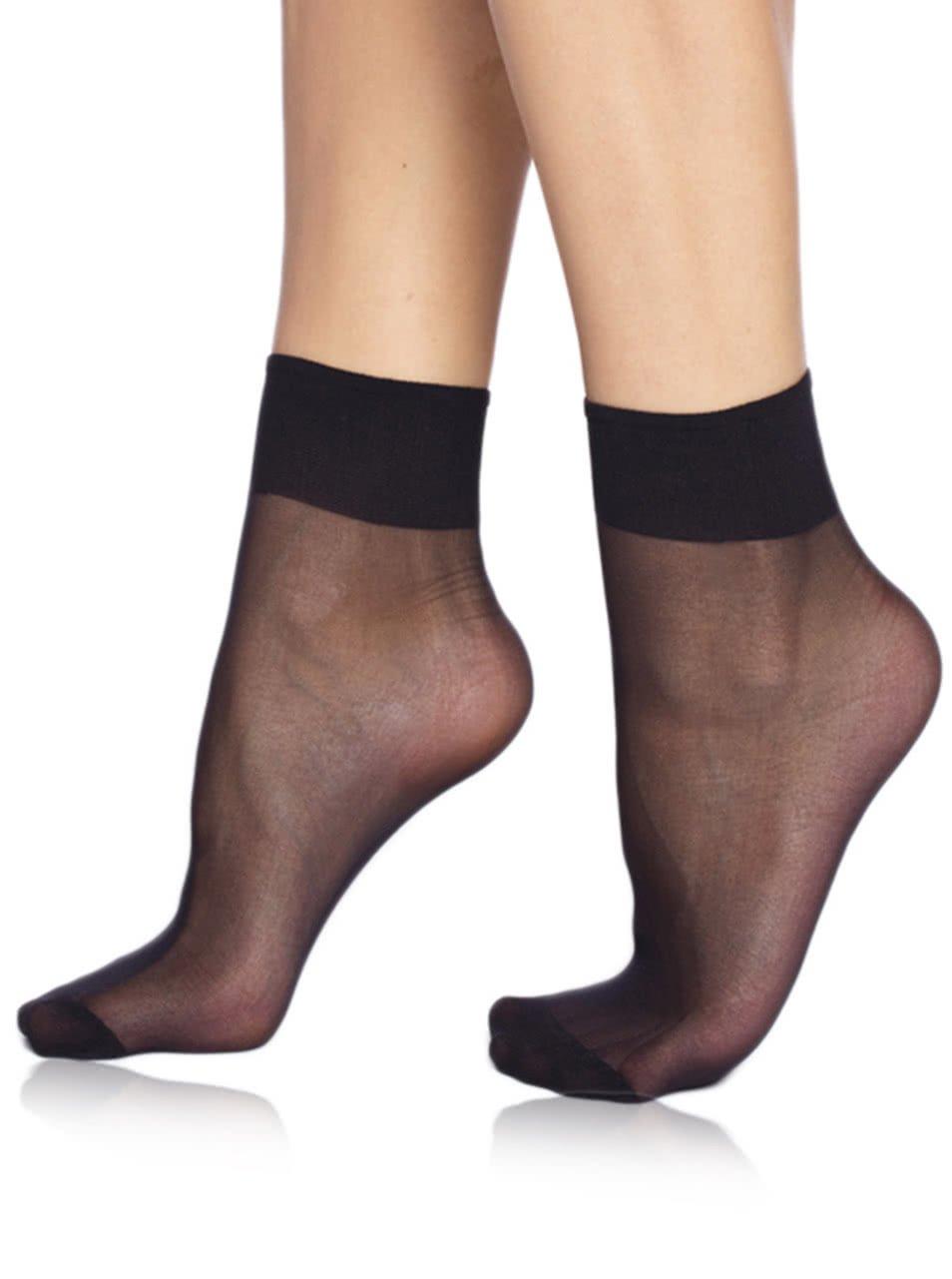 Sada dvou párů černých silonkových ponožek Bellinda Die Passt 20 DEN