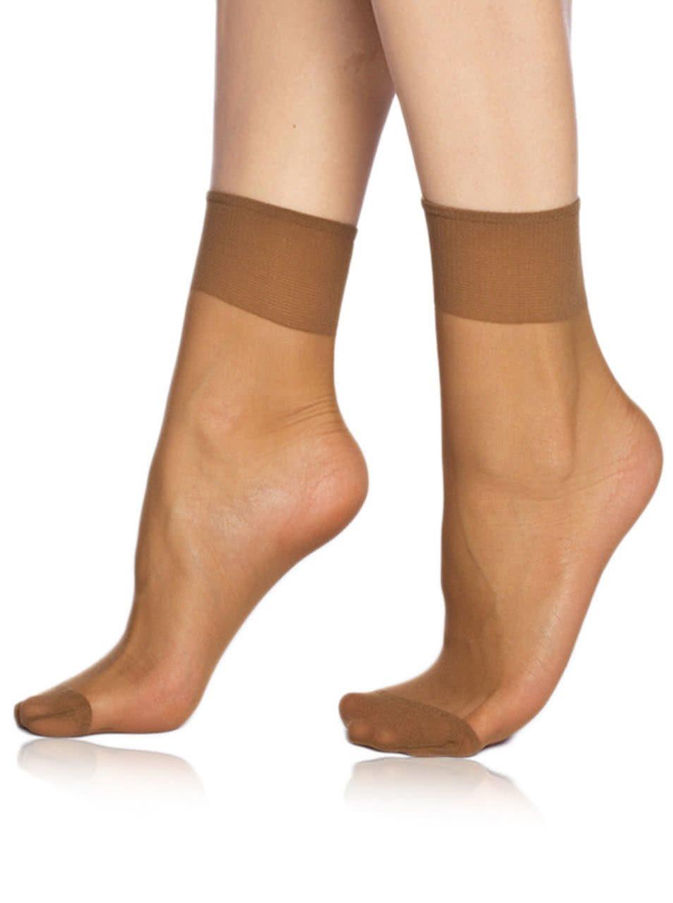 Sada dvou párů tělových silonkových ponožek Bellinda Die Passt 20 DEN
