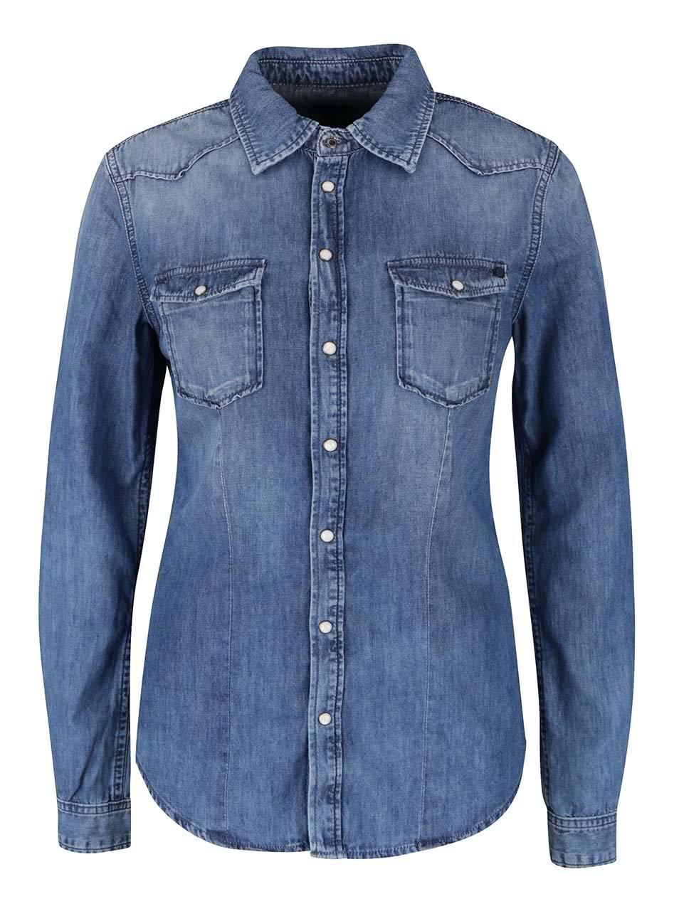 Modrá dámská džínová košile Pepe Jeans Rosie