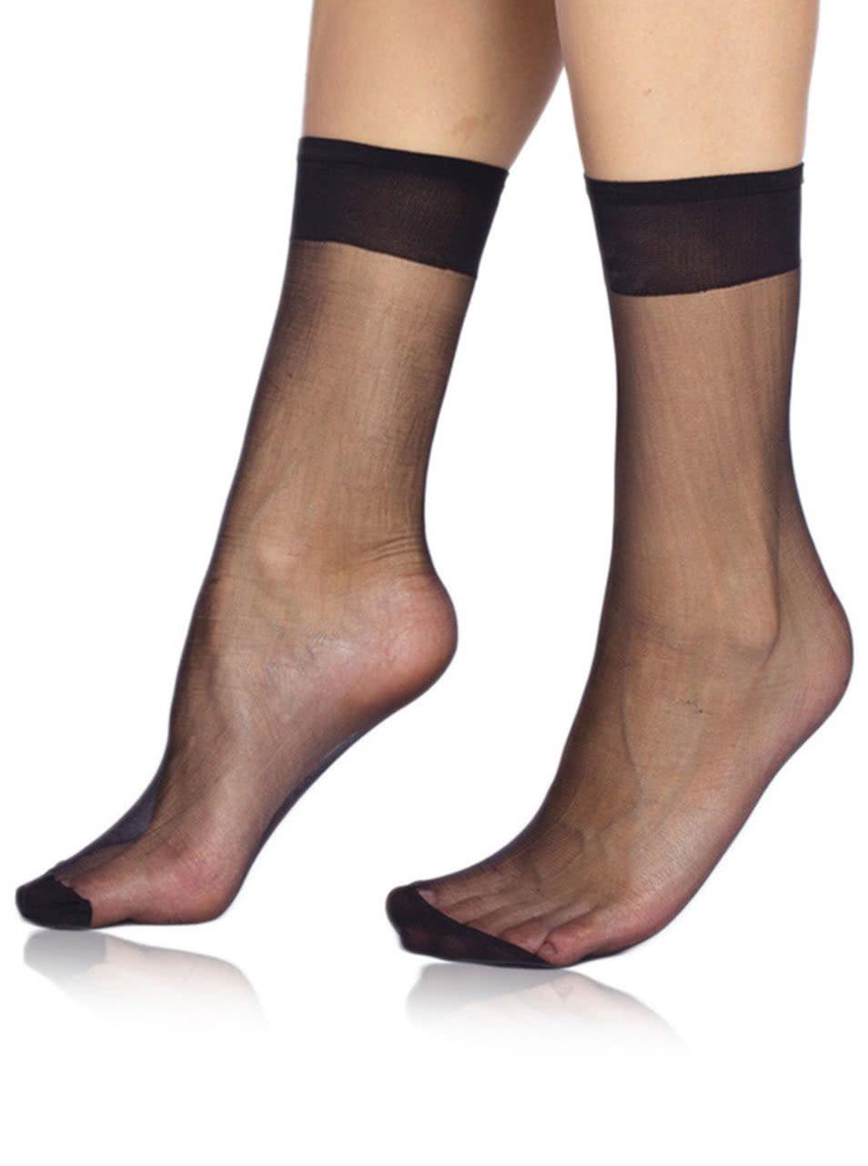 Černé silonkové ponožky Bellinda Fly 15 DEN