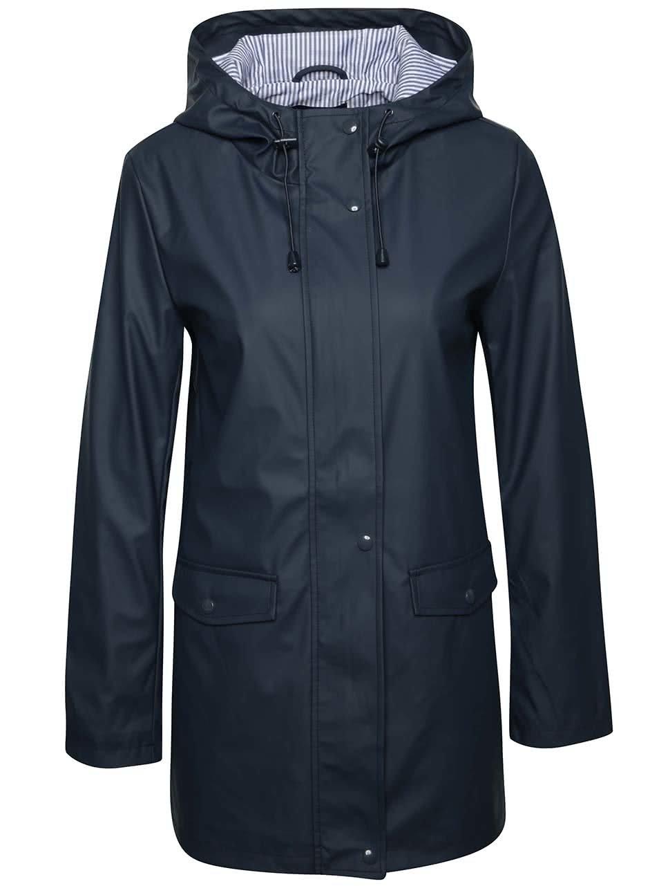 Šedomodrý kabát s kapucí Dorothy Perkins
