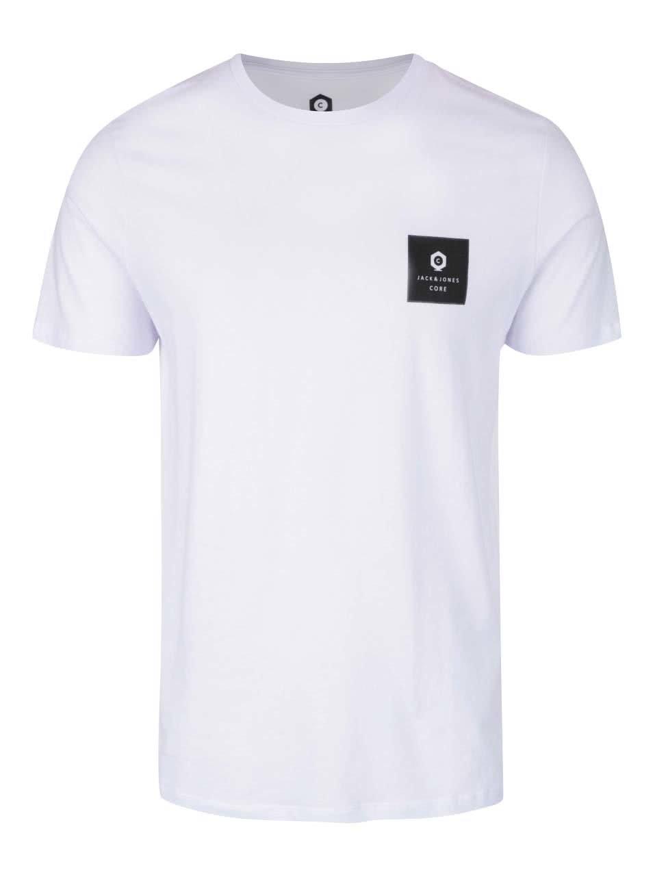 Bílé triko s potiskem Jack & Jones Radical