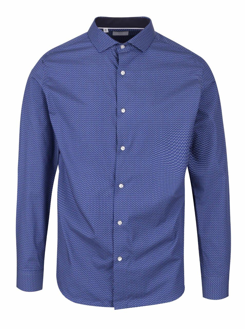 Tmavě modrá vzorovaná slim fit košile Selected Homme Romeo
