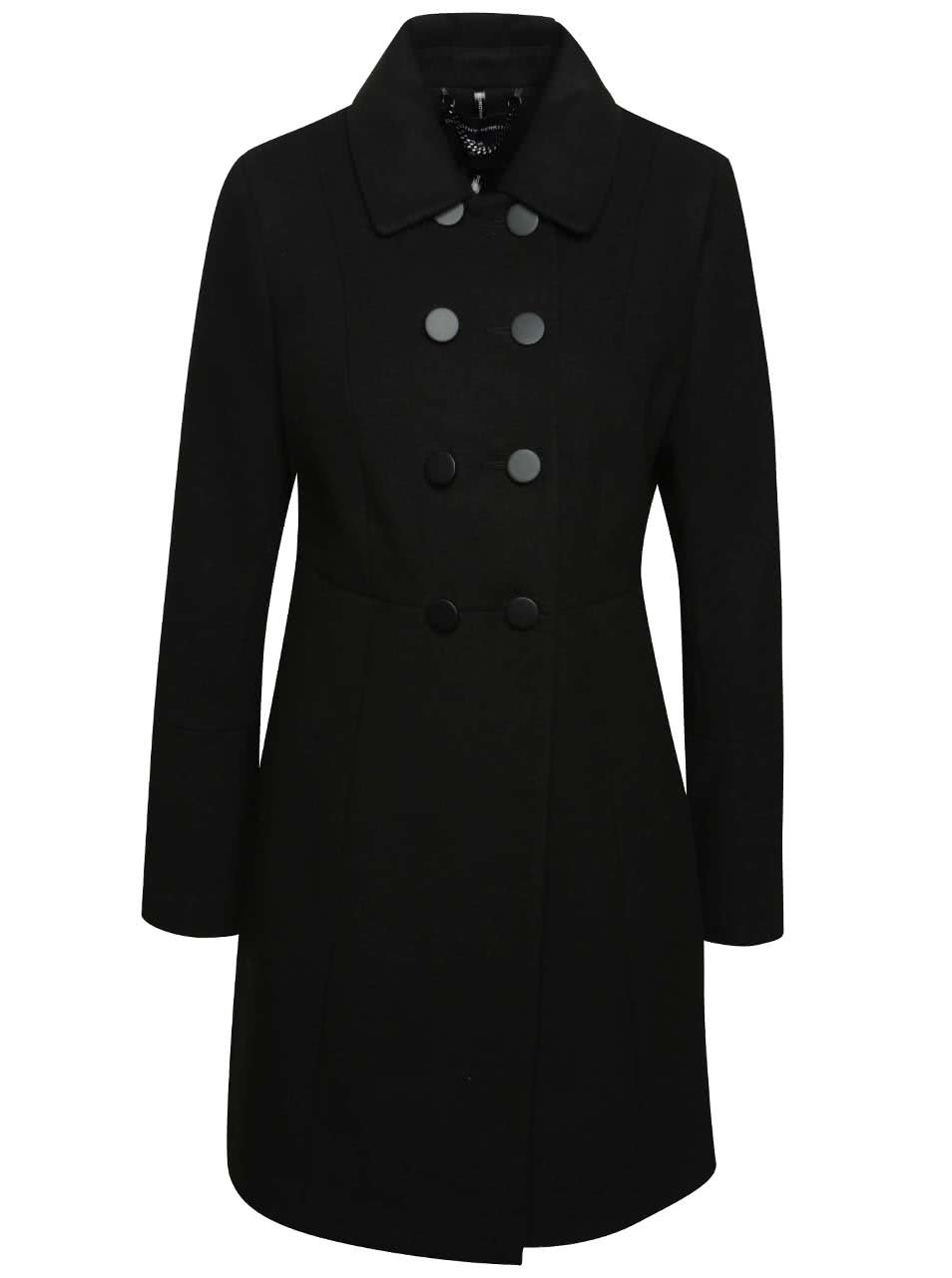 Černý kabát Dorothy Perkins