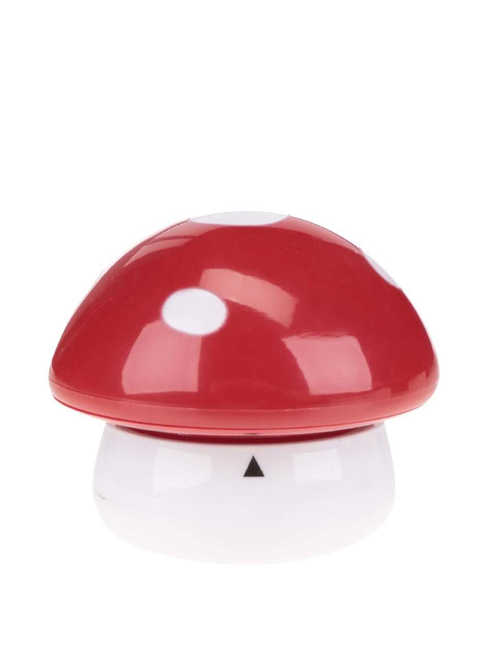 Červeno-bílá minutka do kuchyně Kikkerland Mushroom
