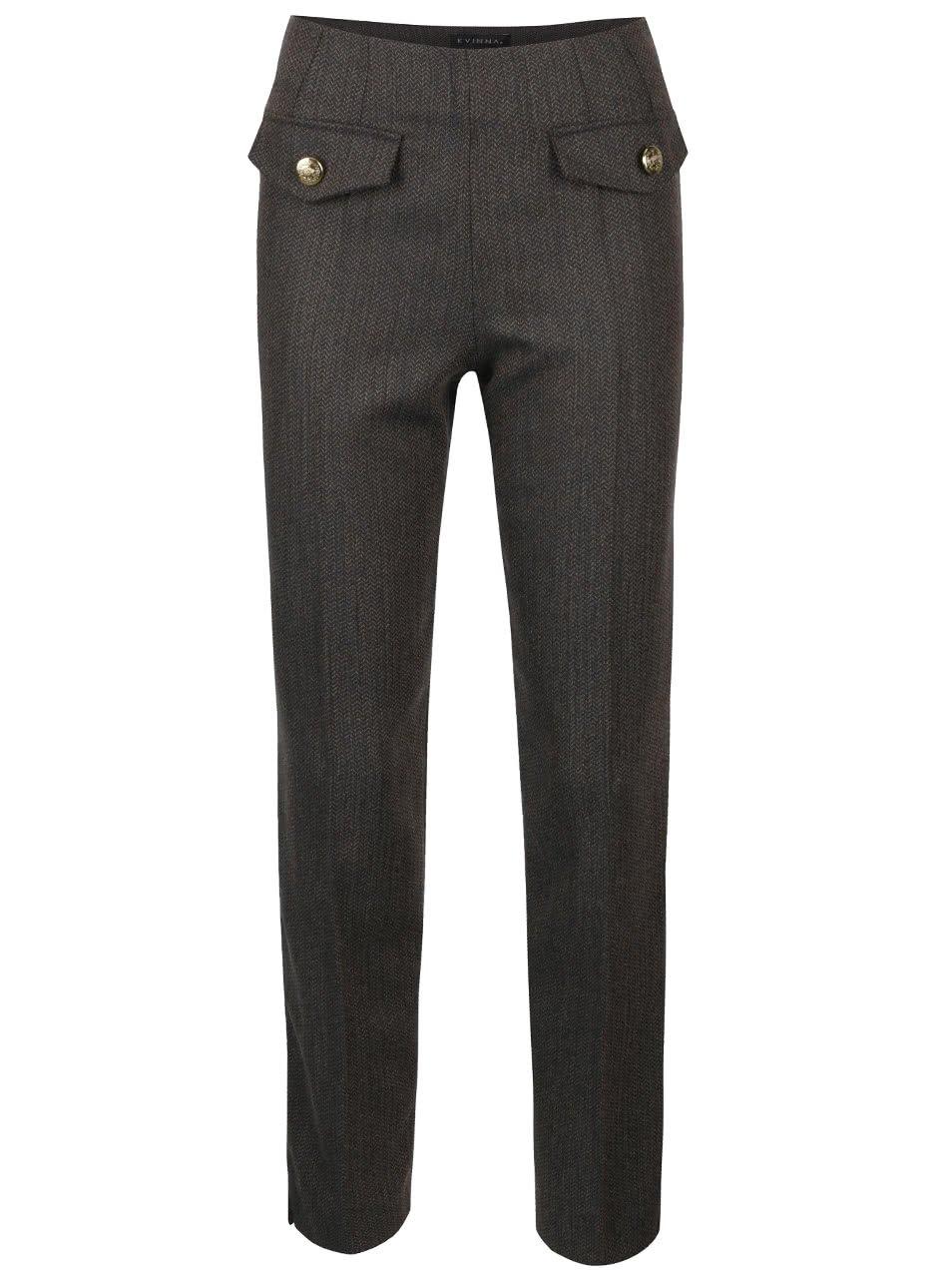 Zeleno-hnědé vlněné kalhoty Kvinna English Hunter