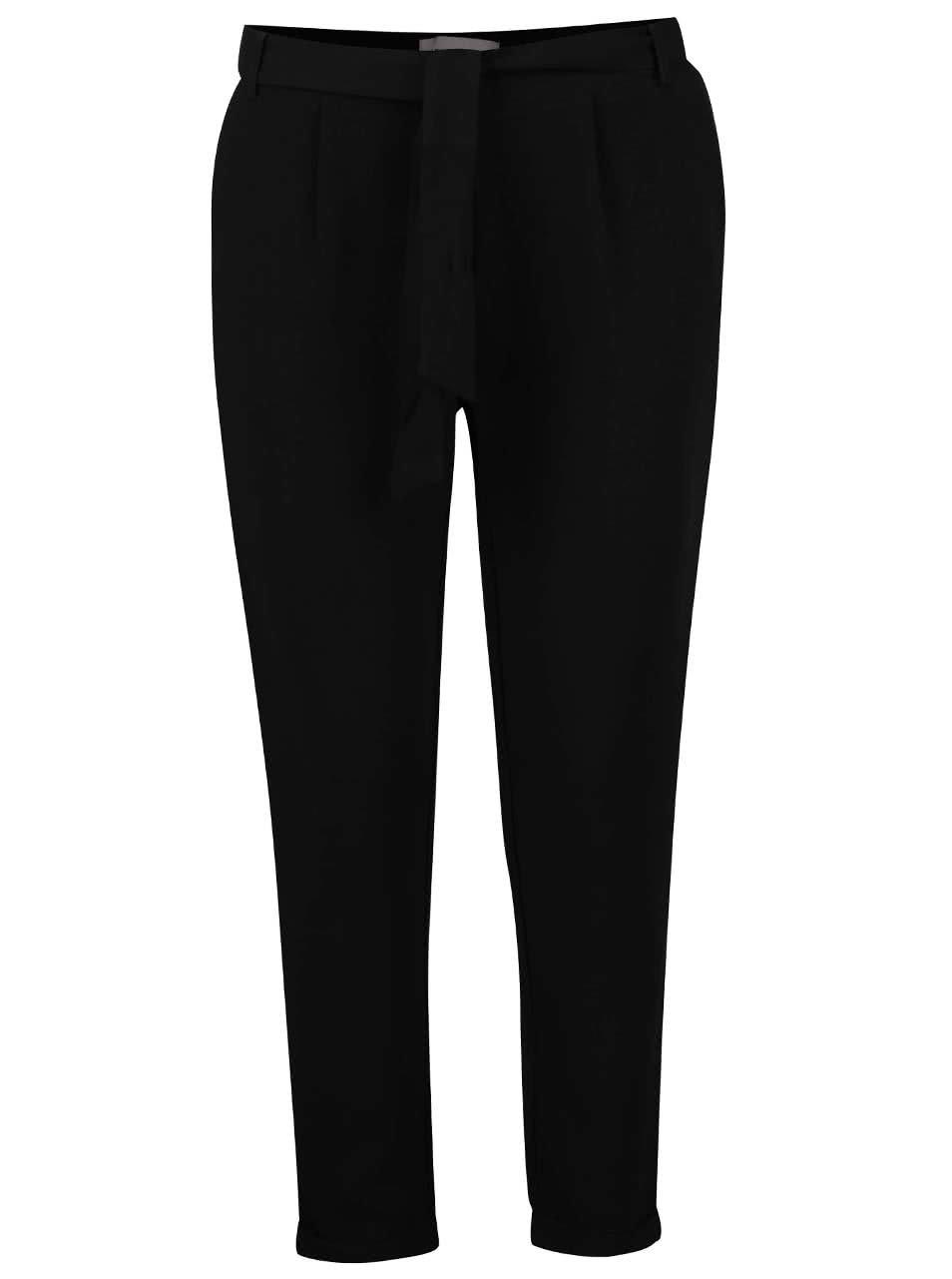 Černé volné kalhoty Vero Moda Mari