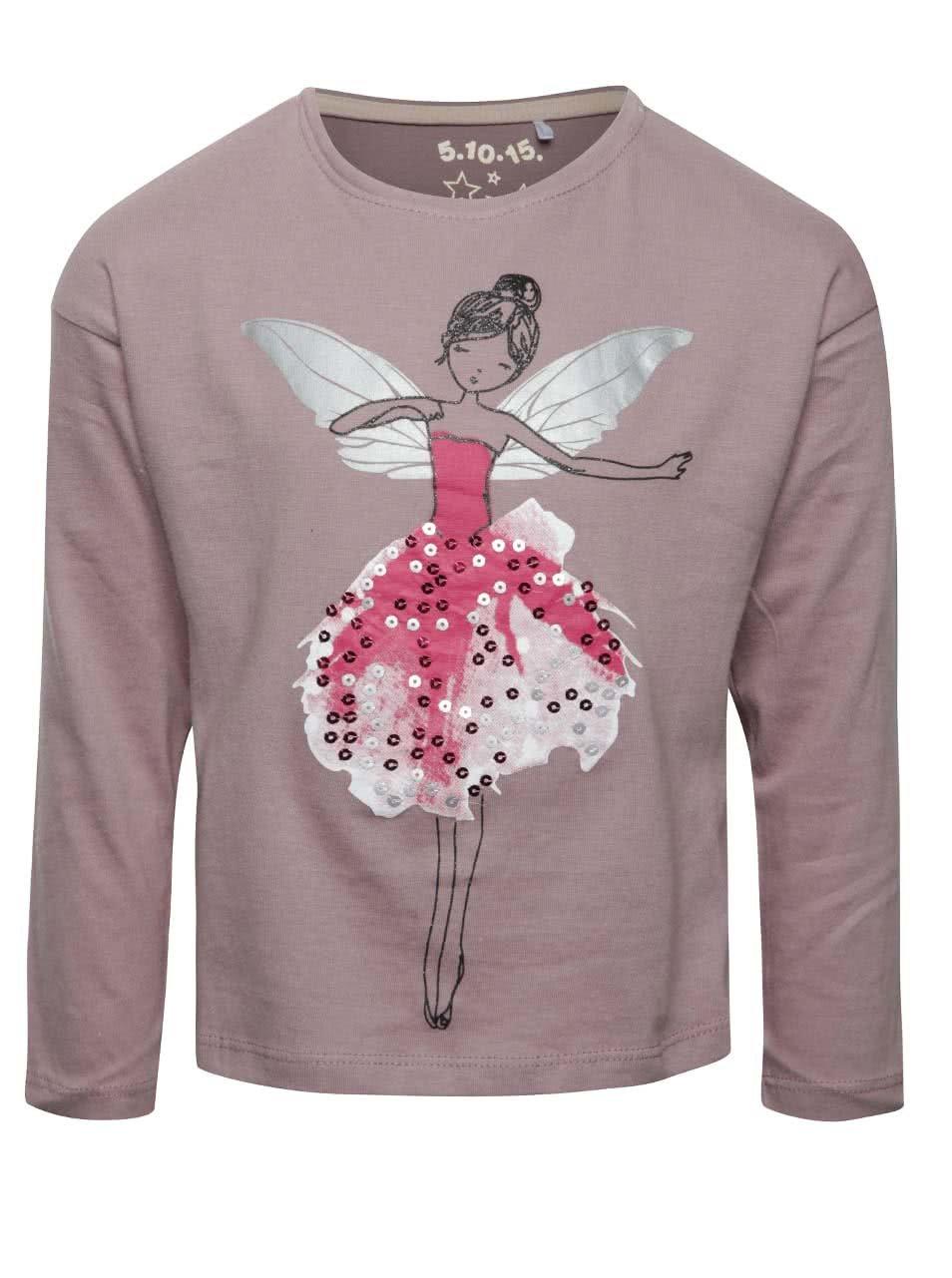 Světle fialové holčičí tričko s vílou 5.10.15.