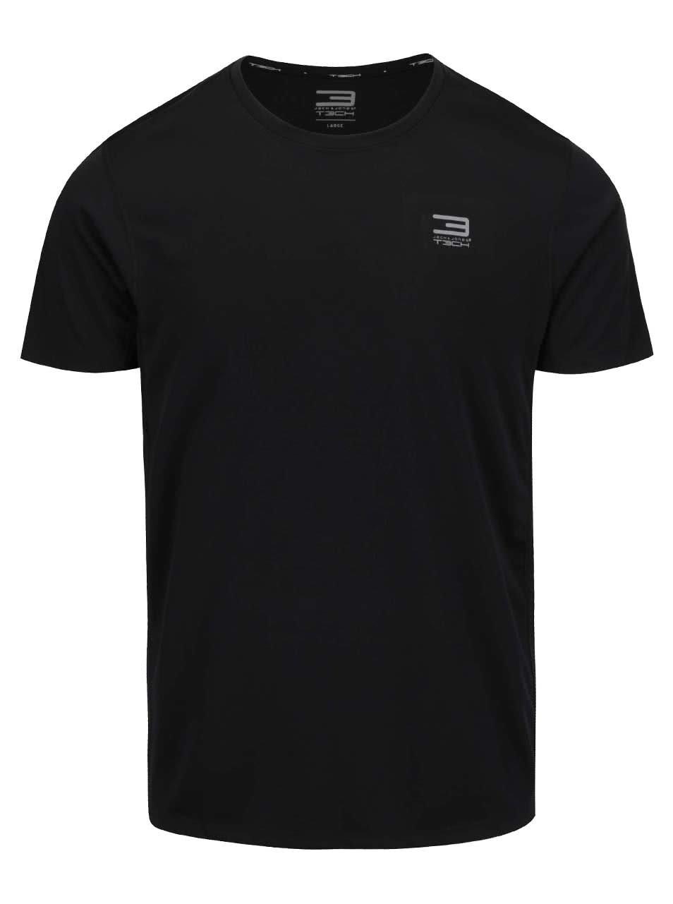 Černé sportovní funkční triko Jack & Jones Basic