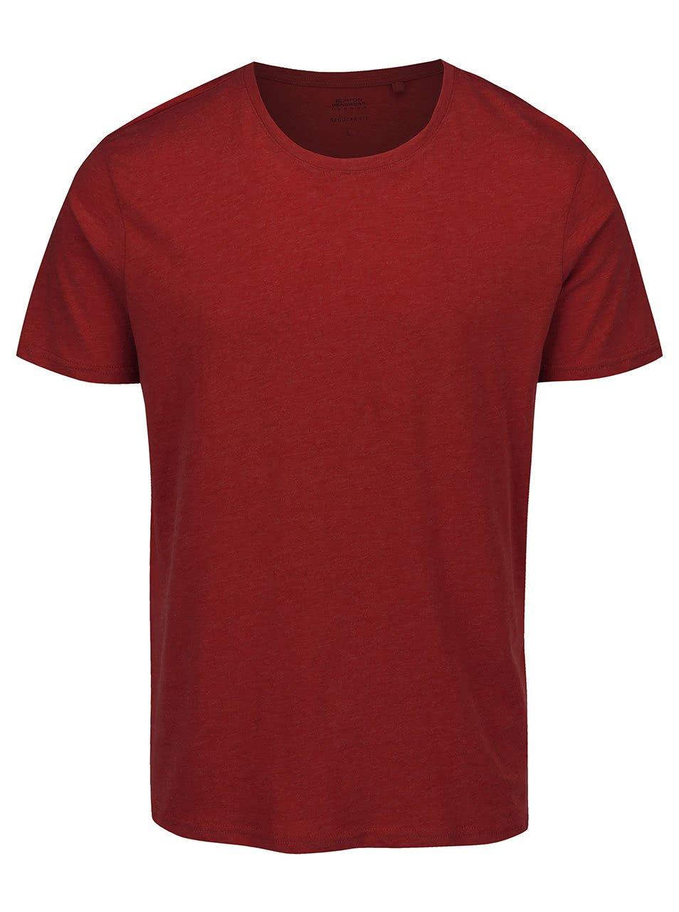 Červené triko Burton Menswear London