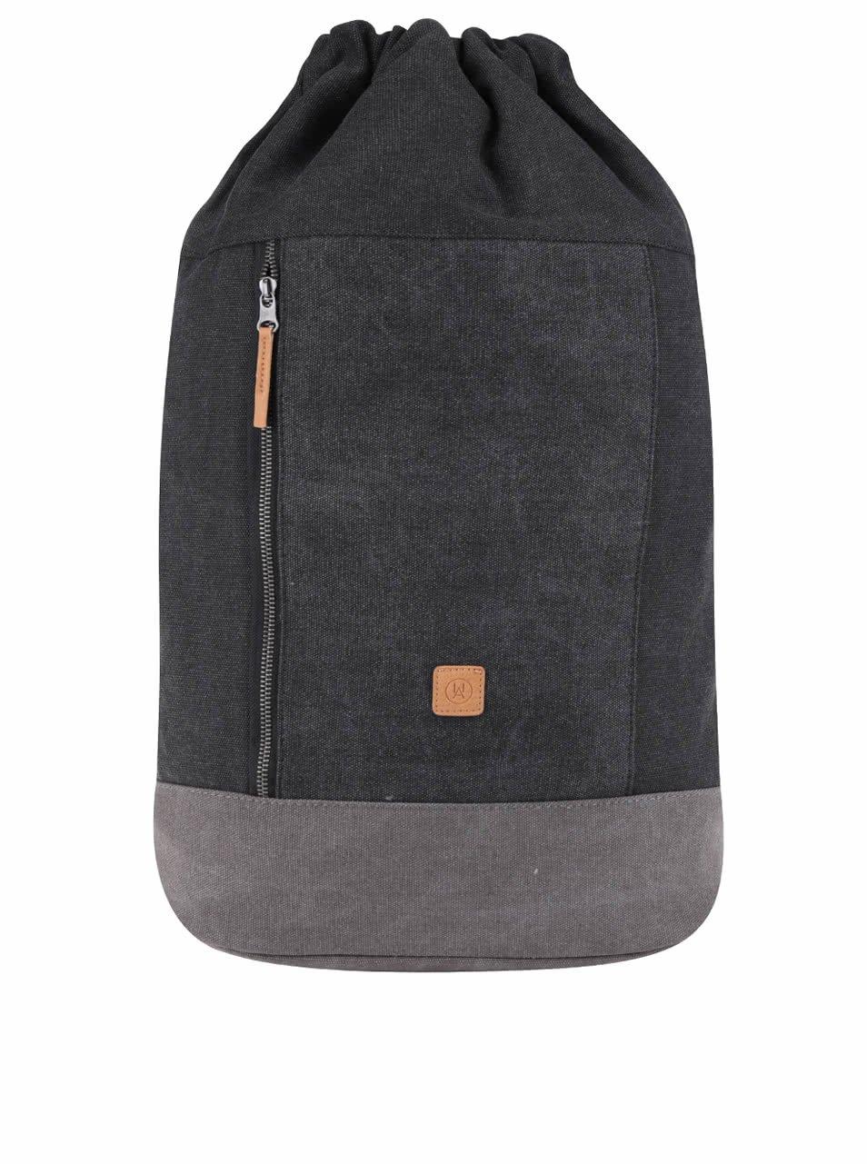 Tmavě šedý žíhaný batoh se stahováním Ucon Cortado Waterproof 19 l