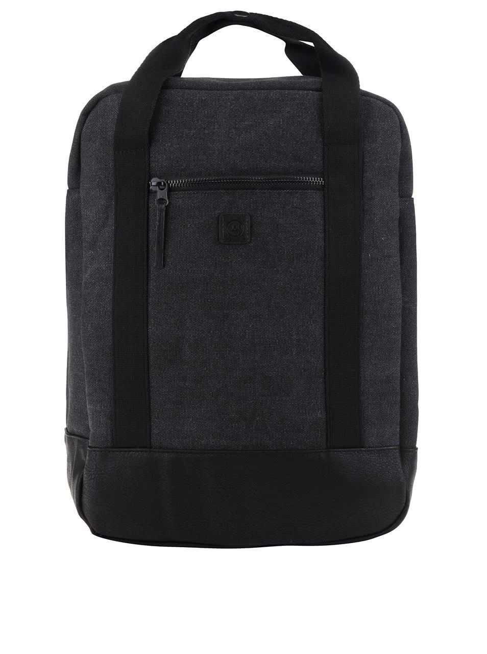 Černo-šedý žíhaný batoh Ucon Isobel Waterproof 16 l