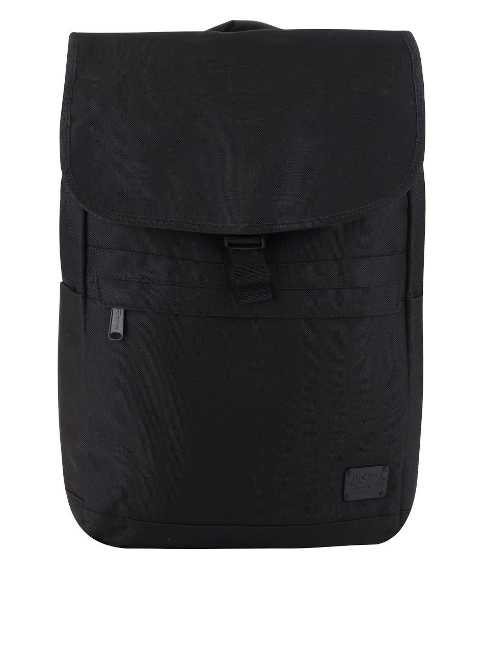 Černý unisex batoh s klopou a přezkou Spiral Commuter 15 l
