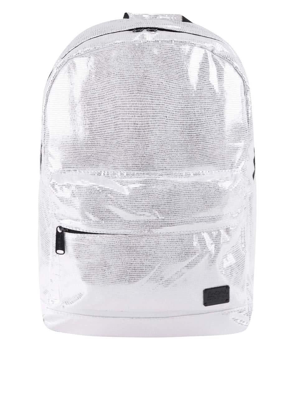 Dámský batoh ve stříbrné a krémové barvě Spiral Linings 18 l