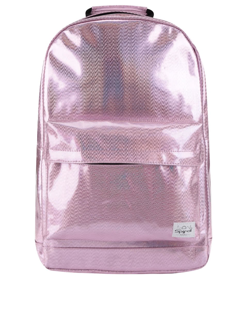 Světle růžový dámský holografický batoh Spiral Glitz 18 l