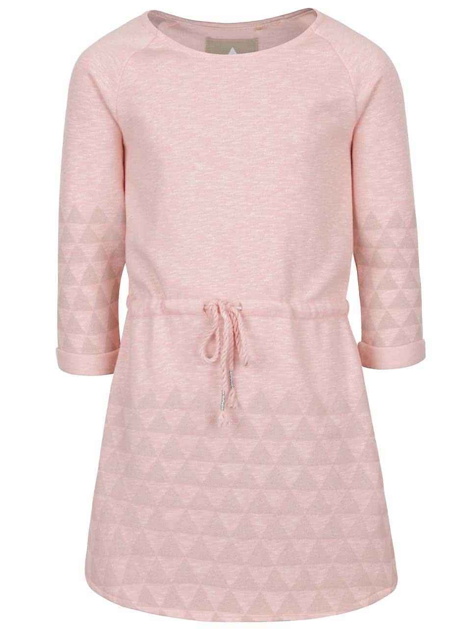 Meruňkové holčičí šaty se vzorem 5.10.15.