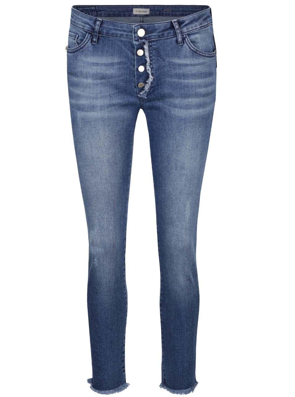 Modré džíny s roztřepenými detaily Rich & Royal