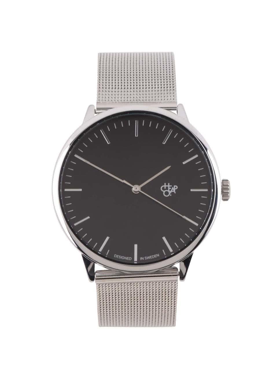 Unisex hodinky ve stříbrné barvě s nerezovým páskem Cheapo Nando Silver