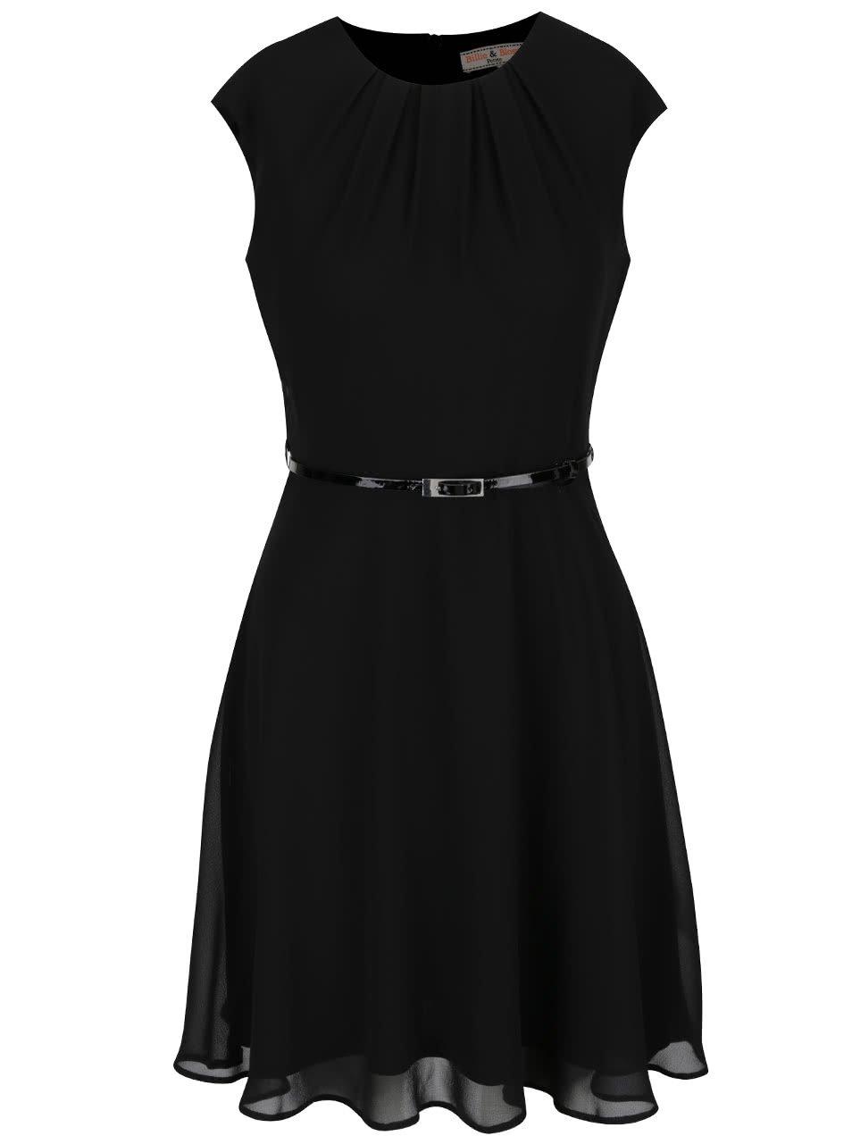 Černé šaty s tenkým páskem Dorothy Perkins Petite