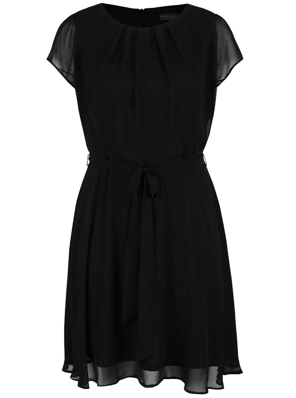 Černé šaty se stuhou v pase Dorothy Perkins Curve