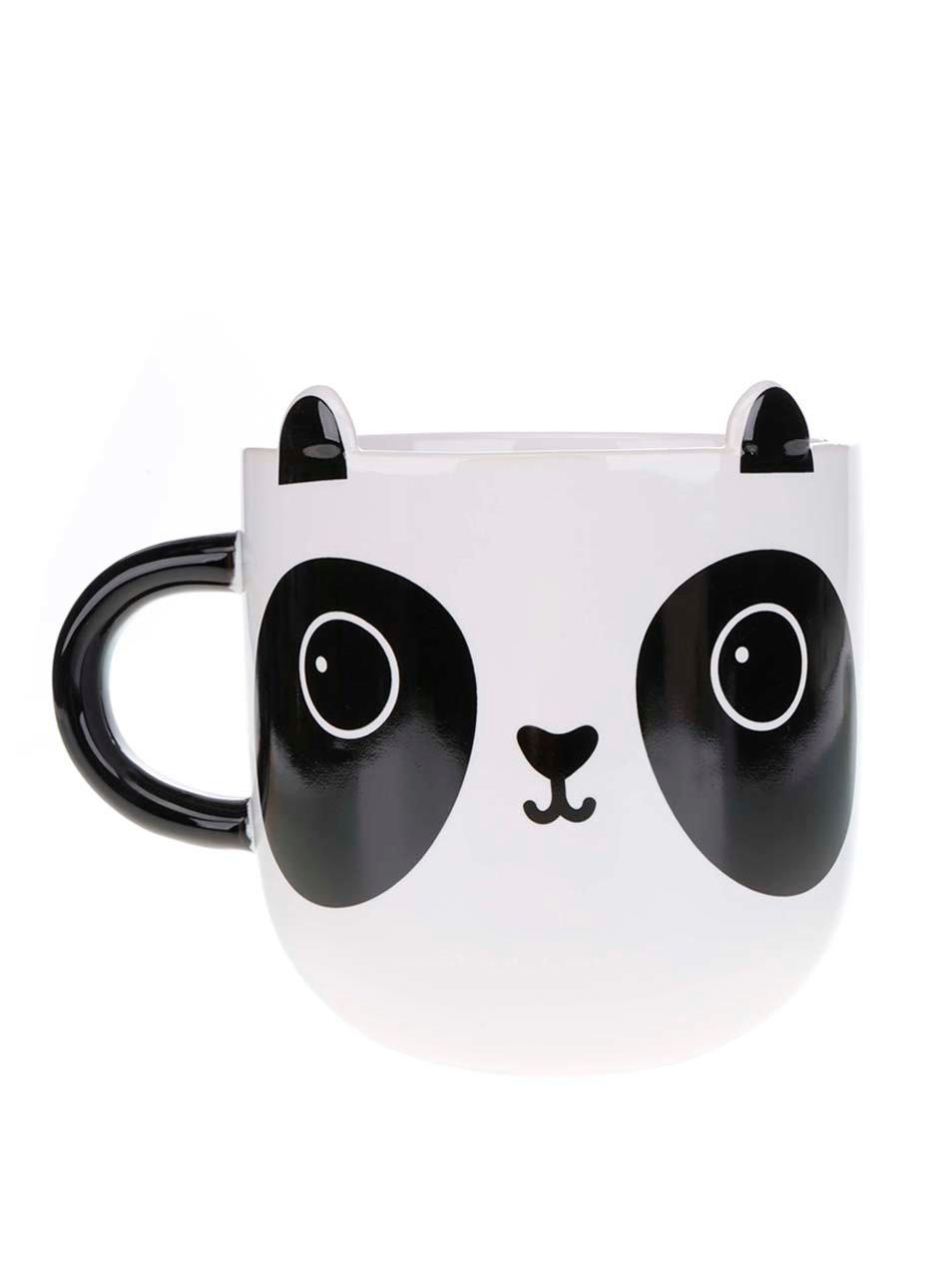 Černo-bílý keramický hrnek s motivem pandy Sass & Belle