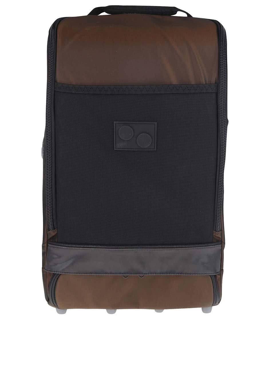 Černo-hnědý unisex batoh pinqponq Cubik Large 22 l