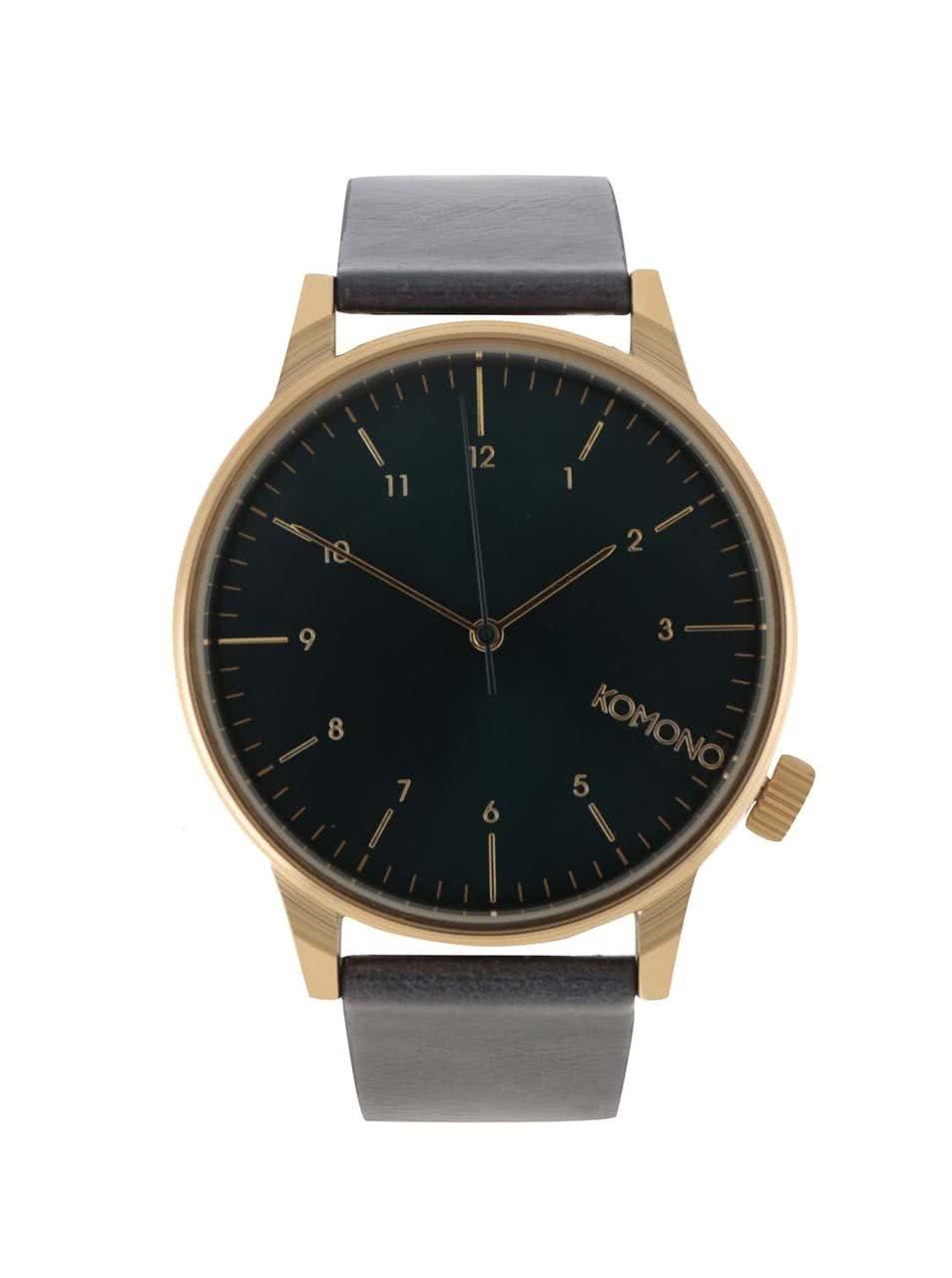 Tmavě modré unisex hodinky Komono Winston Regal