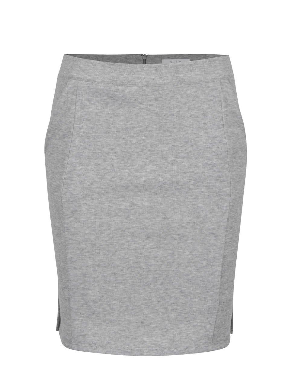 Světle šedá sukně s kapsami VILA Clira  96b0c871a7