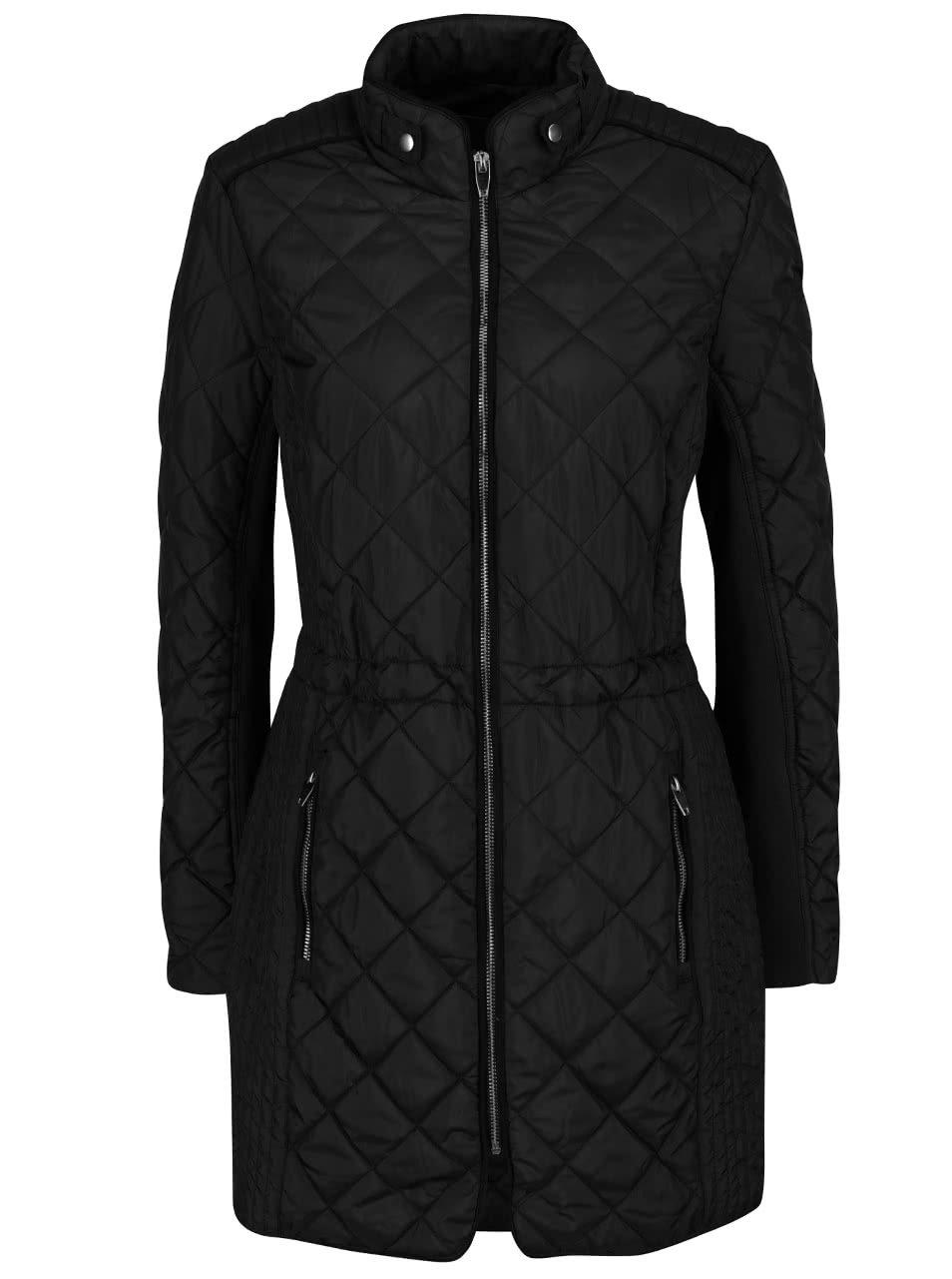 Černý prošívaný kabát VERO MODA Yolanda