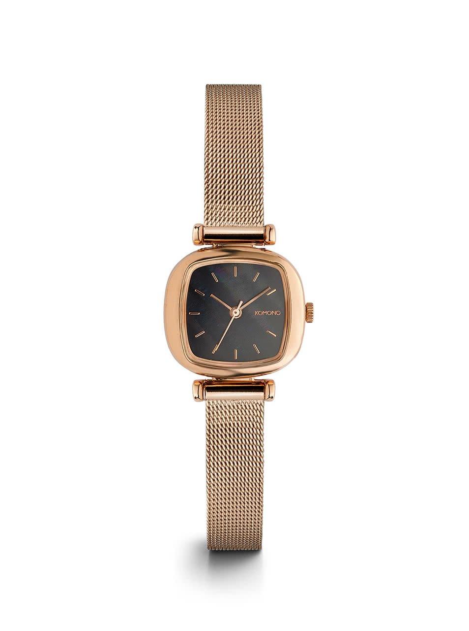 Dámske hodinky v zlatoružovej farbe s nerezovým remienkom Komono Moneypenny Royale