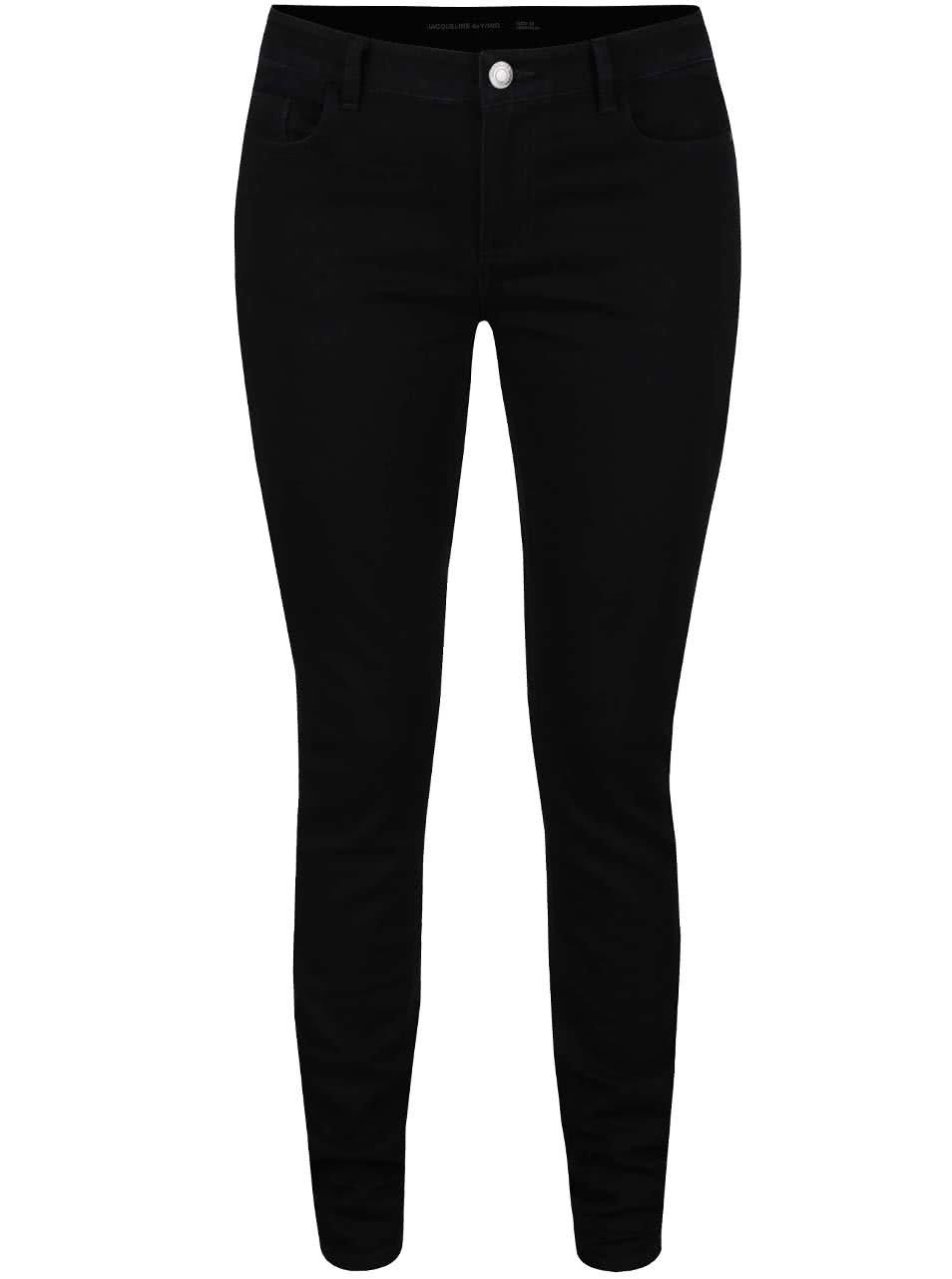 Černé elastické džíny Jacqueline de Yong Low Holly