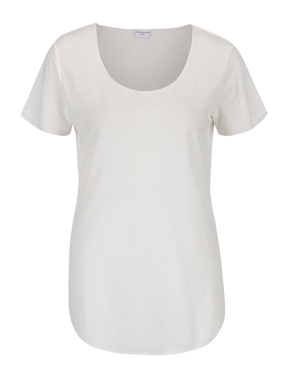 Krémové tričko s příměsí lnu Jacqueline de Yong Linette