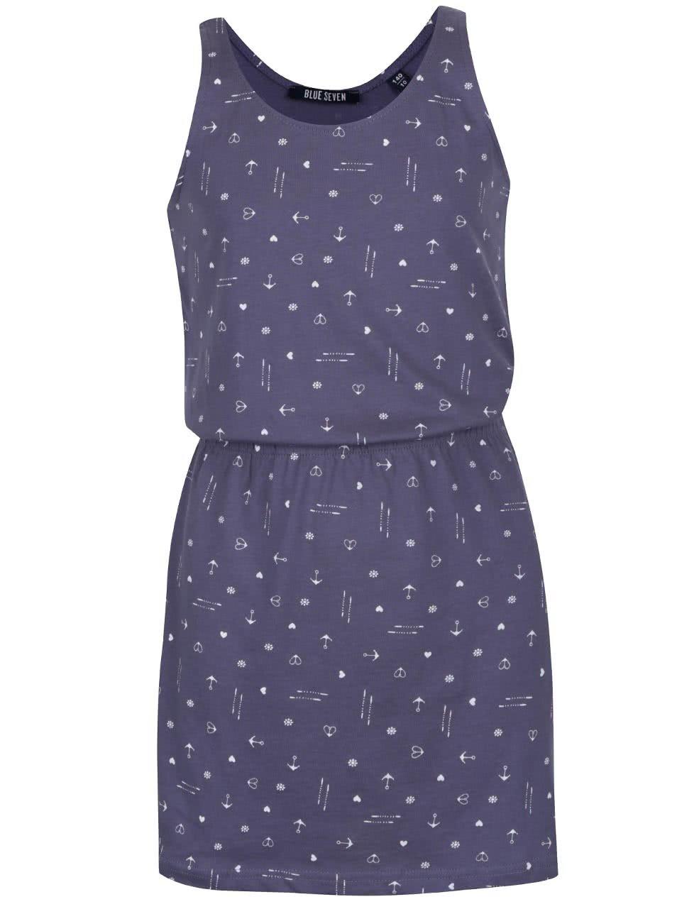 Modré holčičí vzorované šaty Blue Seven
