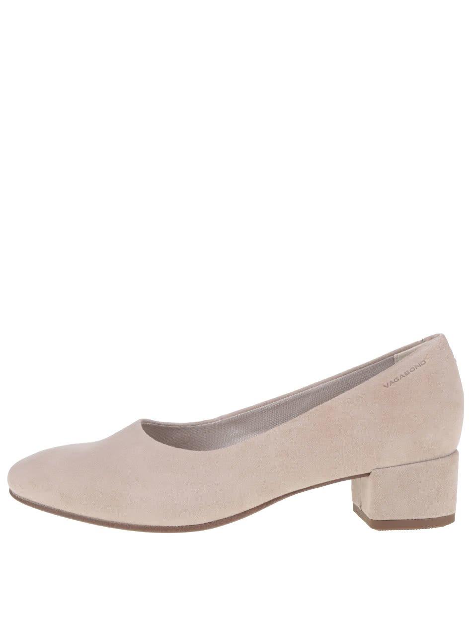 Béžové dámské boty na podpatku Vagabond Jamilla