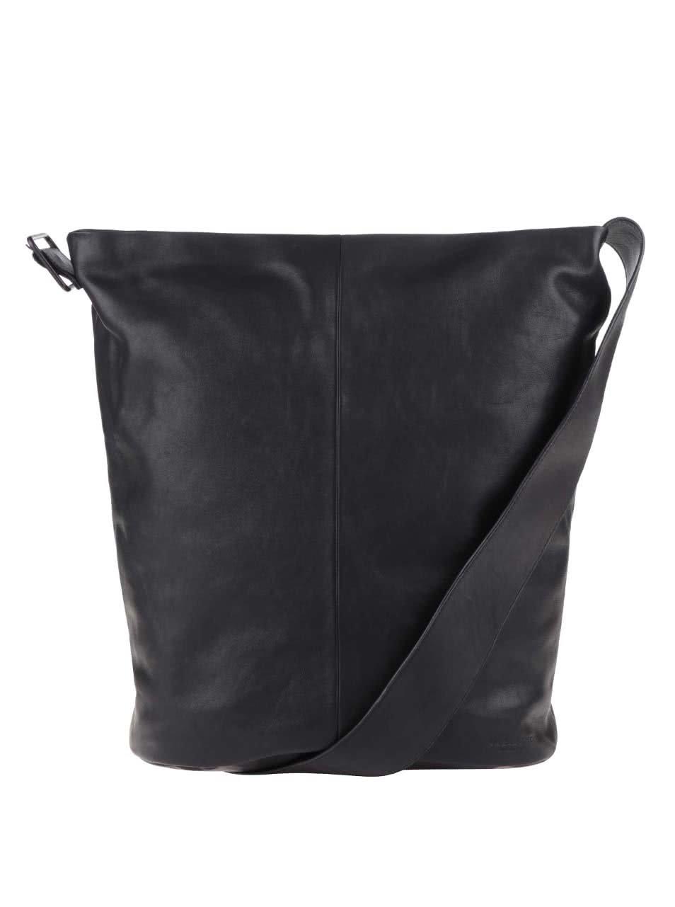 Černá dámská kožená kabelka Vagabond Stockholm