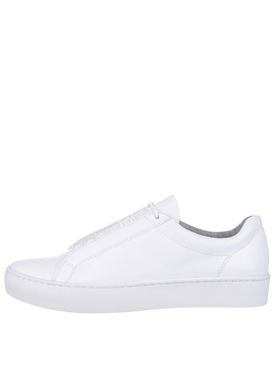 Bílé dámské kožené tenisky na platformě Vagabond Zoe
