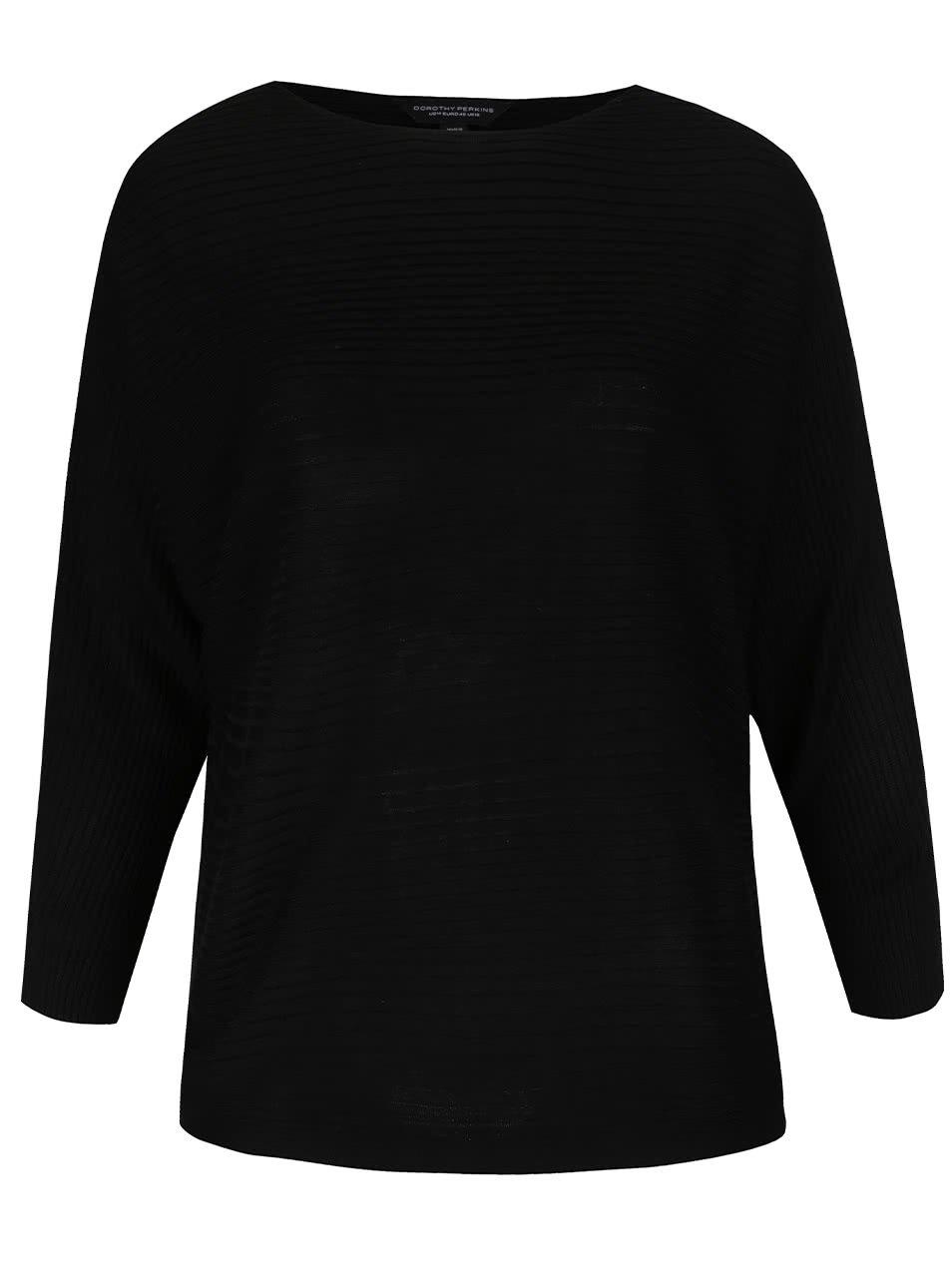 Černý svetr s netopýřími rukávy Dorothy Perkins Curve