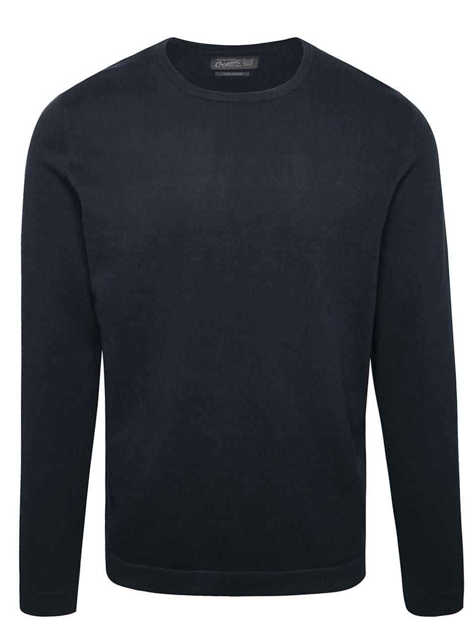Tmavě modrý lehký svetr Jack & Jones Basic