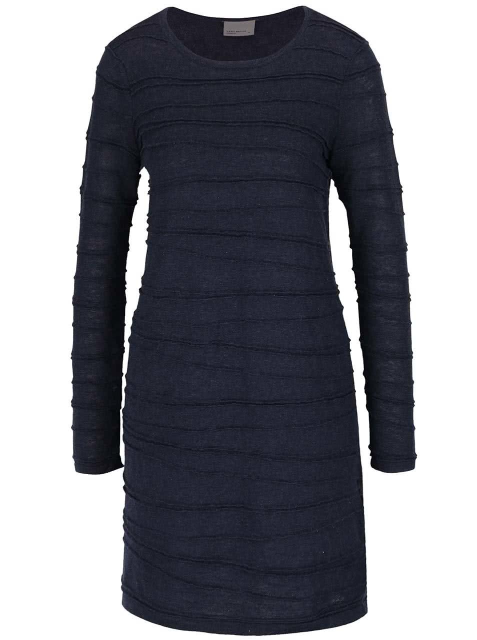 Tmavě modré svetrové šaty Vero Moda Montana