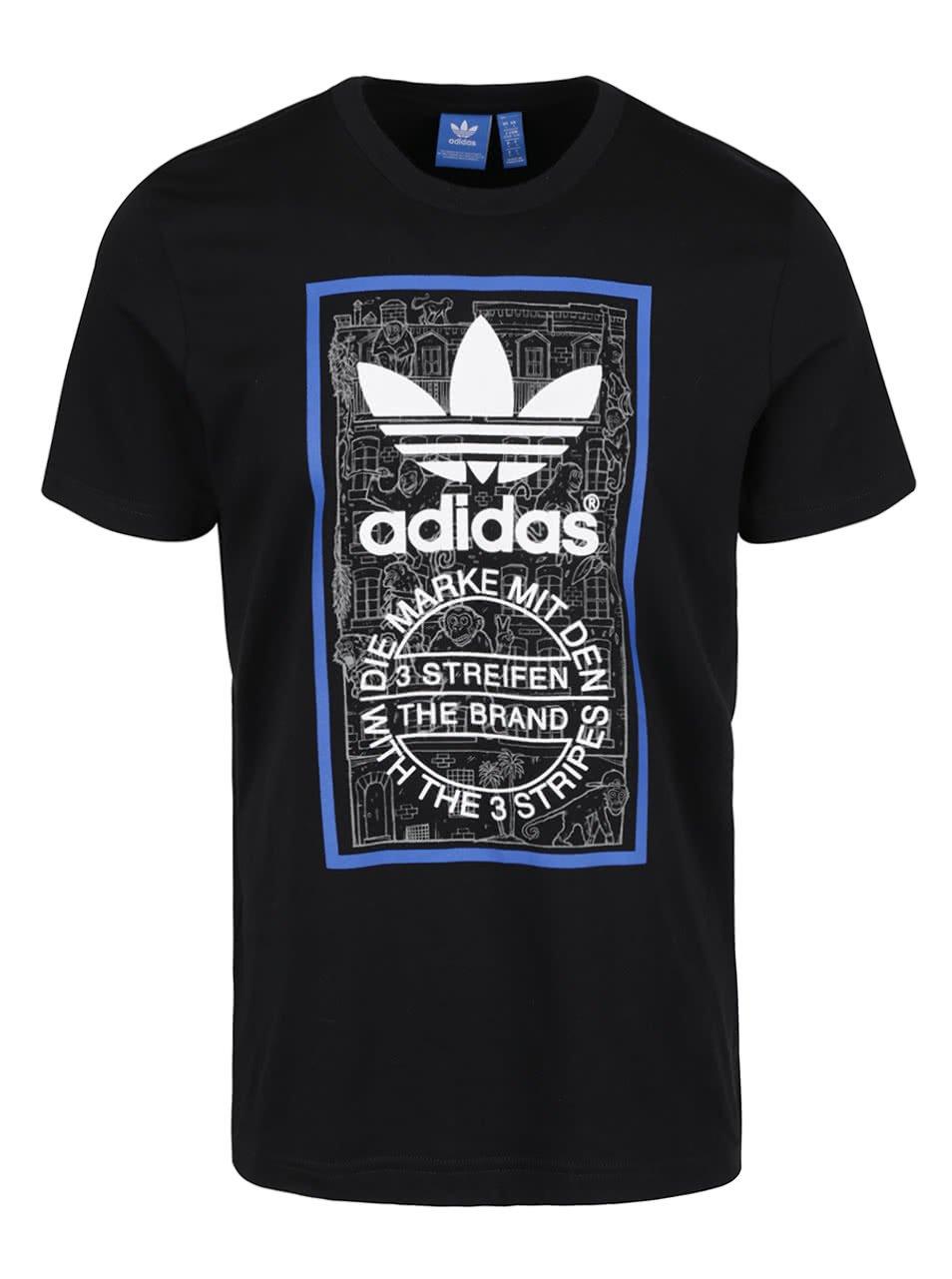 Černé pánské triko adidas Originals Brick Tongue