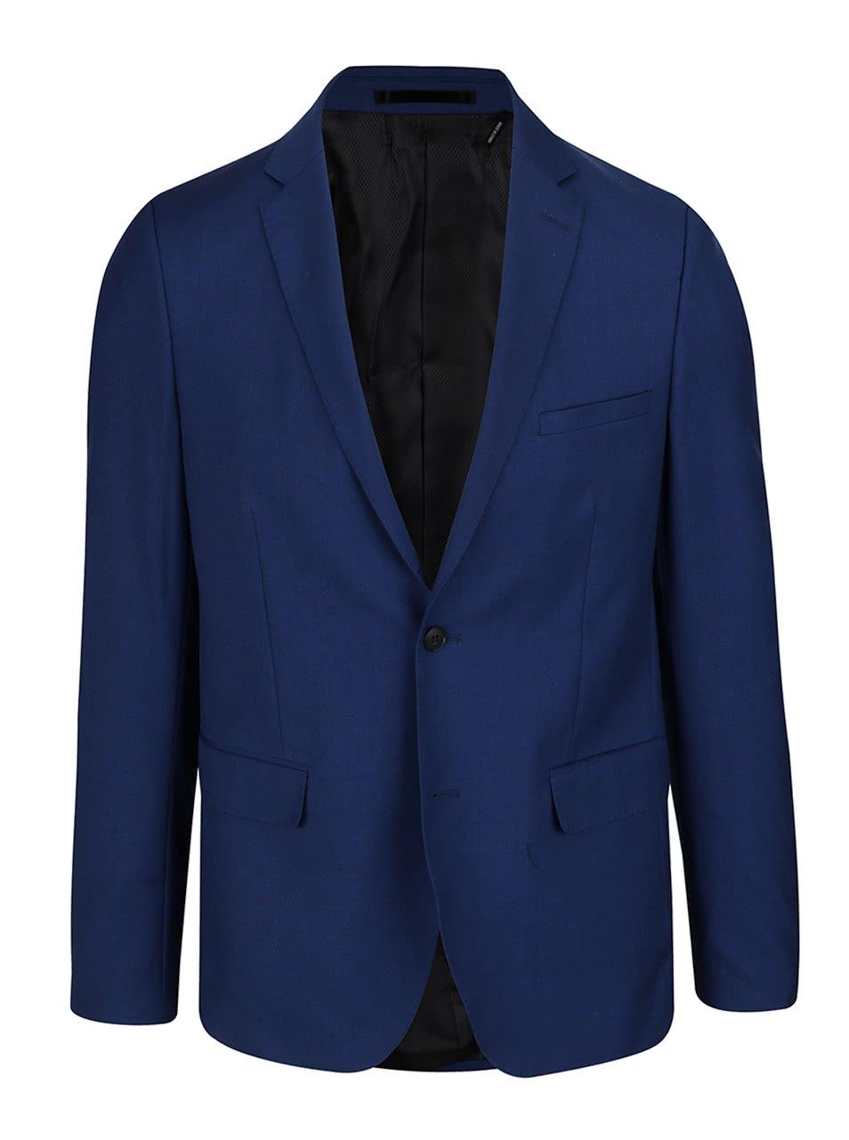 Modré oblekové sako Lindbergh