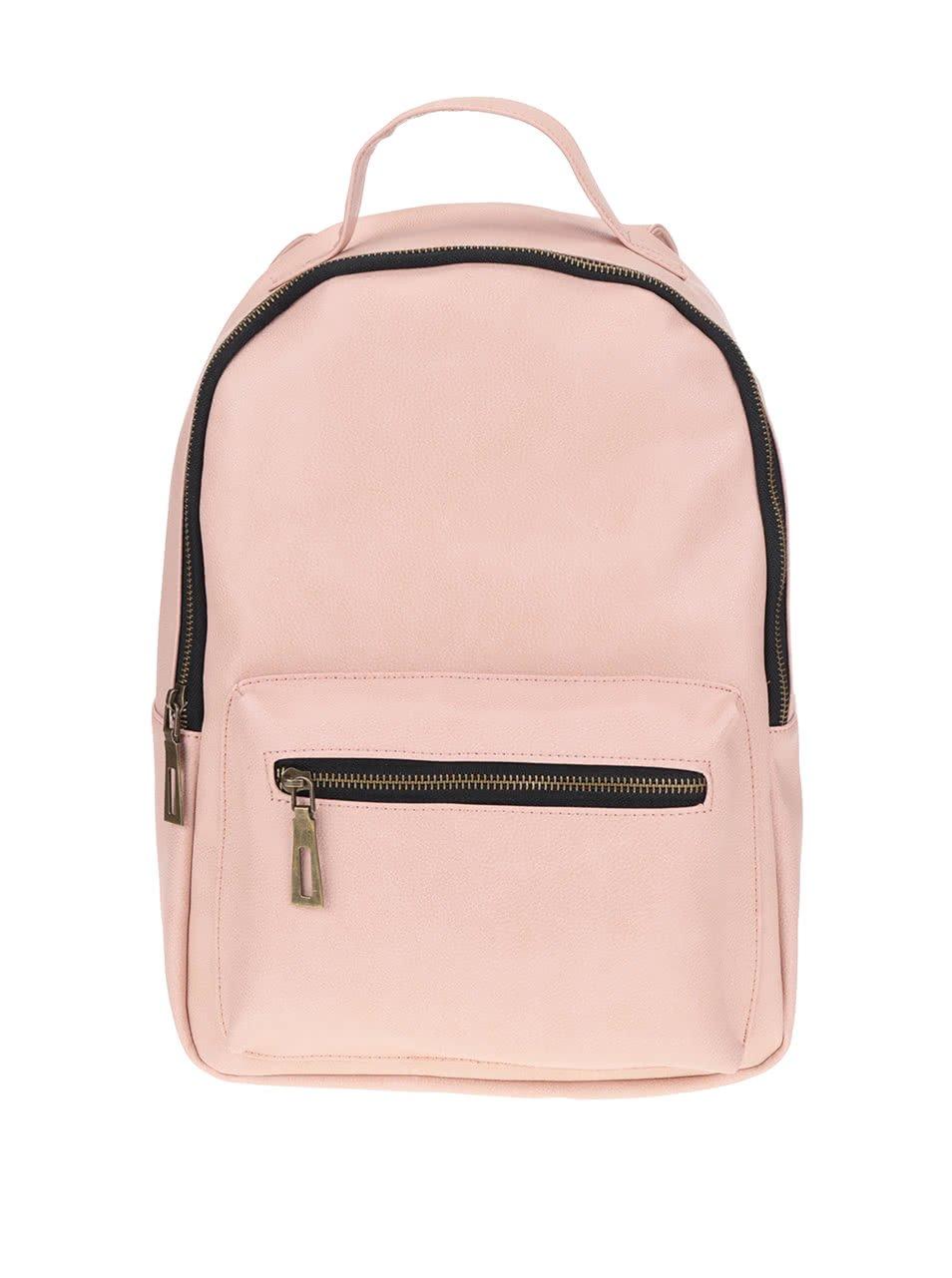 Růžový batoh se zipem TALLY WEiJL
