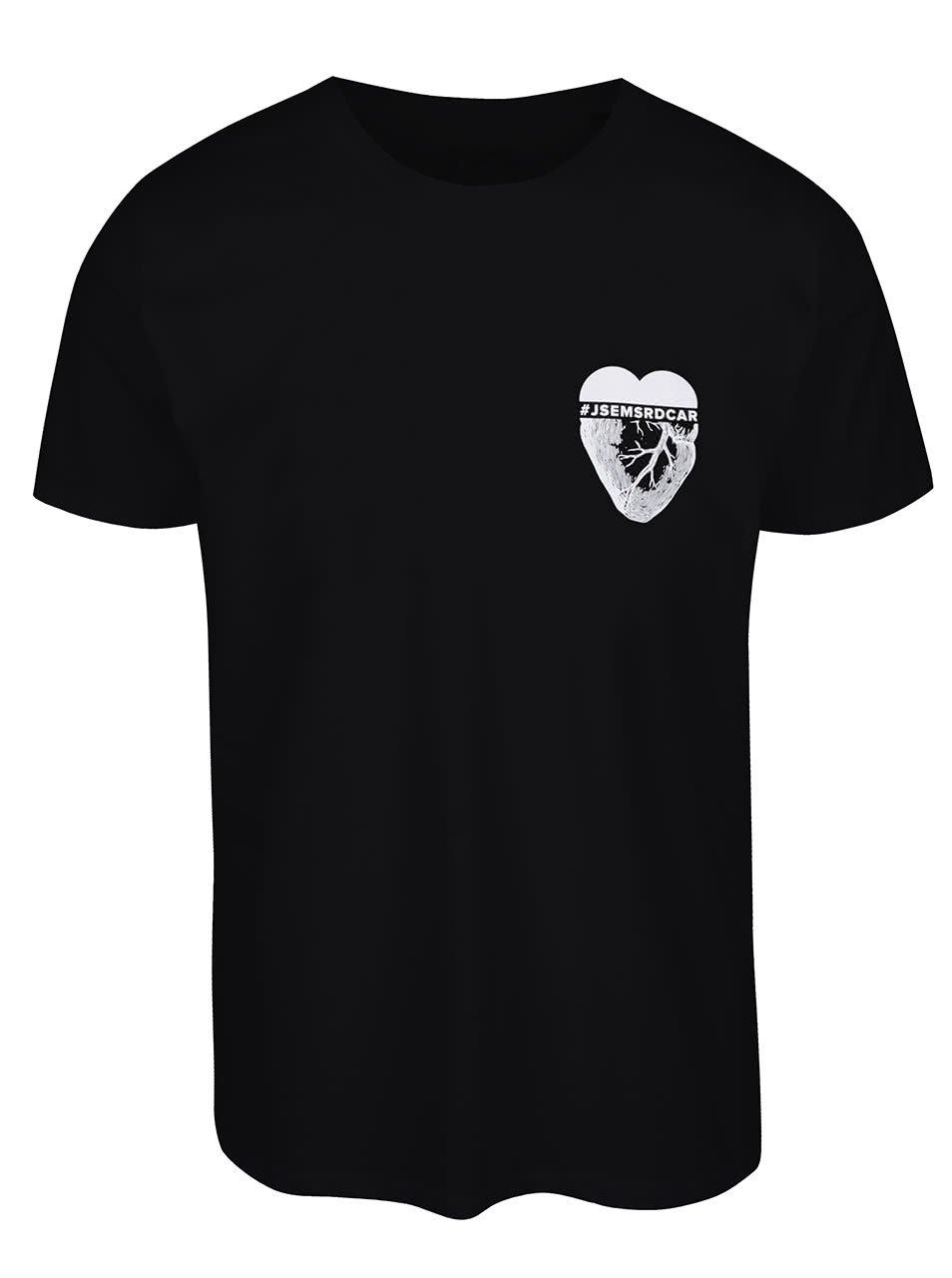 Černé pánské triko ZOOT Originál Srdcař