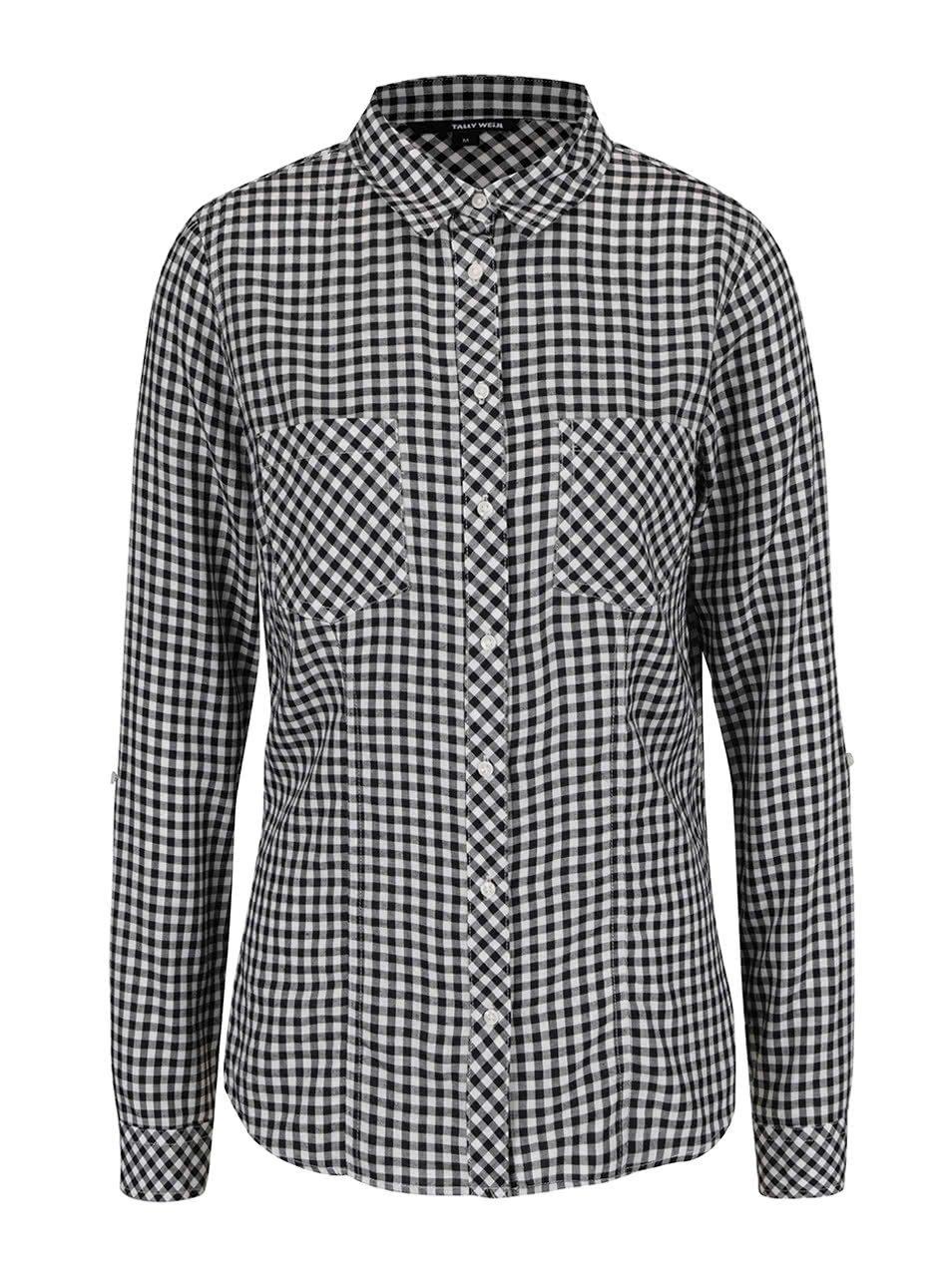 Černo-bílá kostkovaná košile TALLY WEiJL