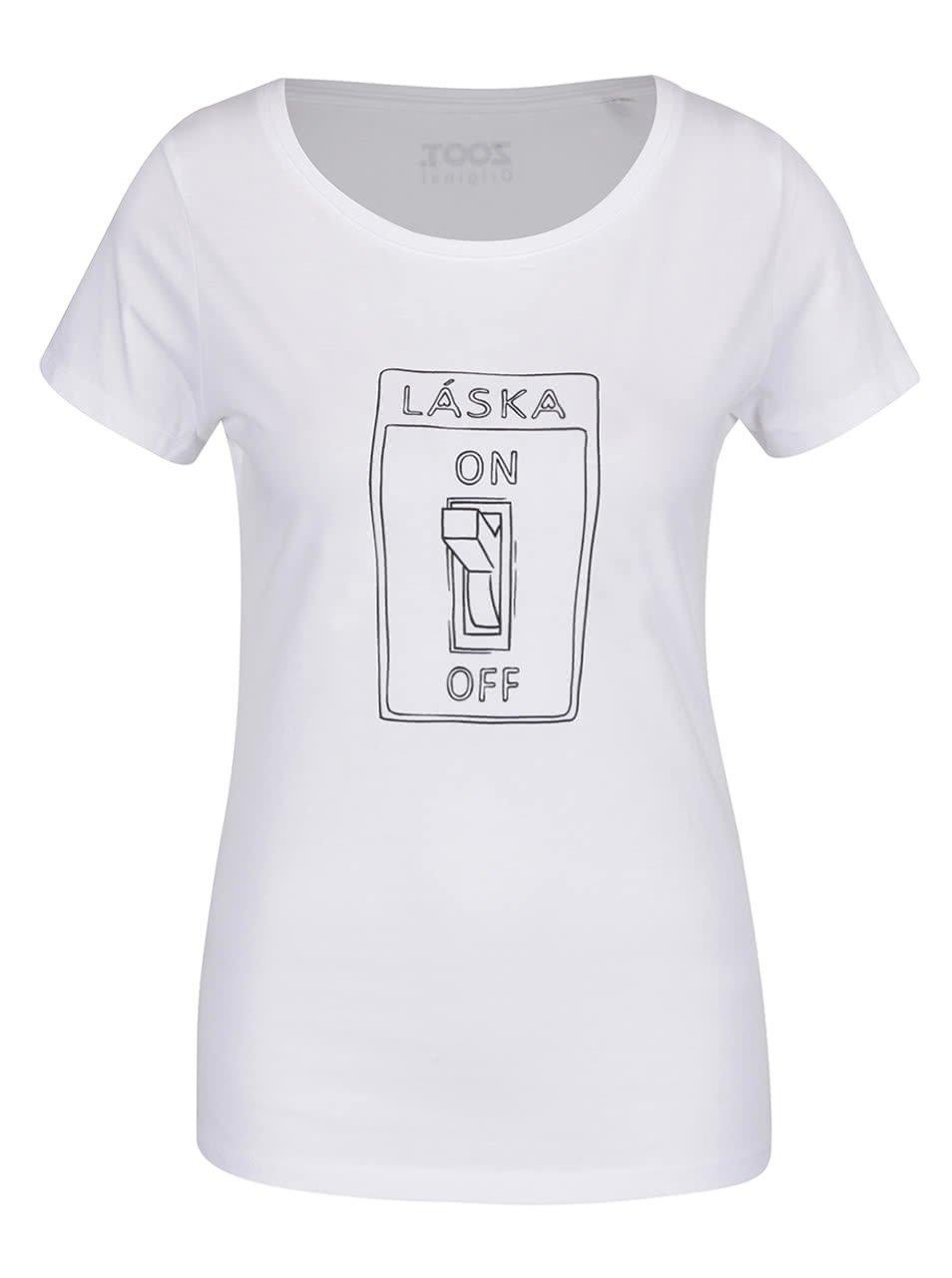 Bílé dámské tričko ZOOT Originál On off