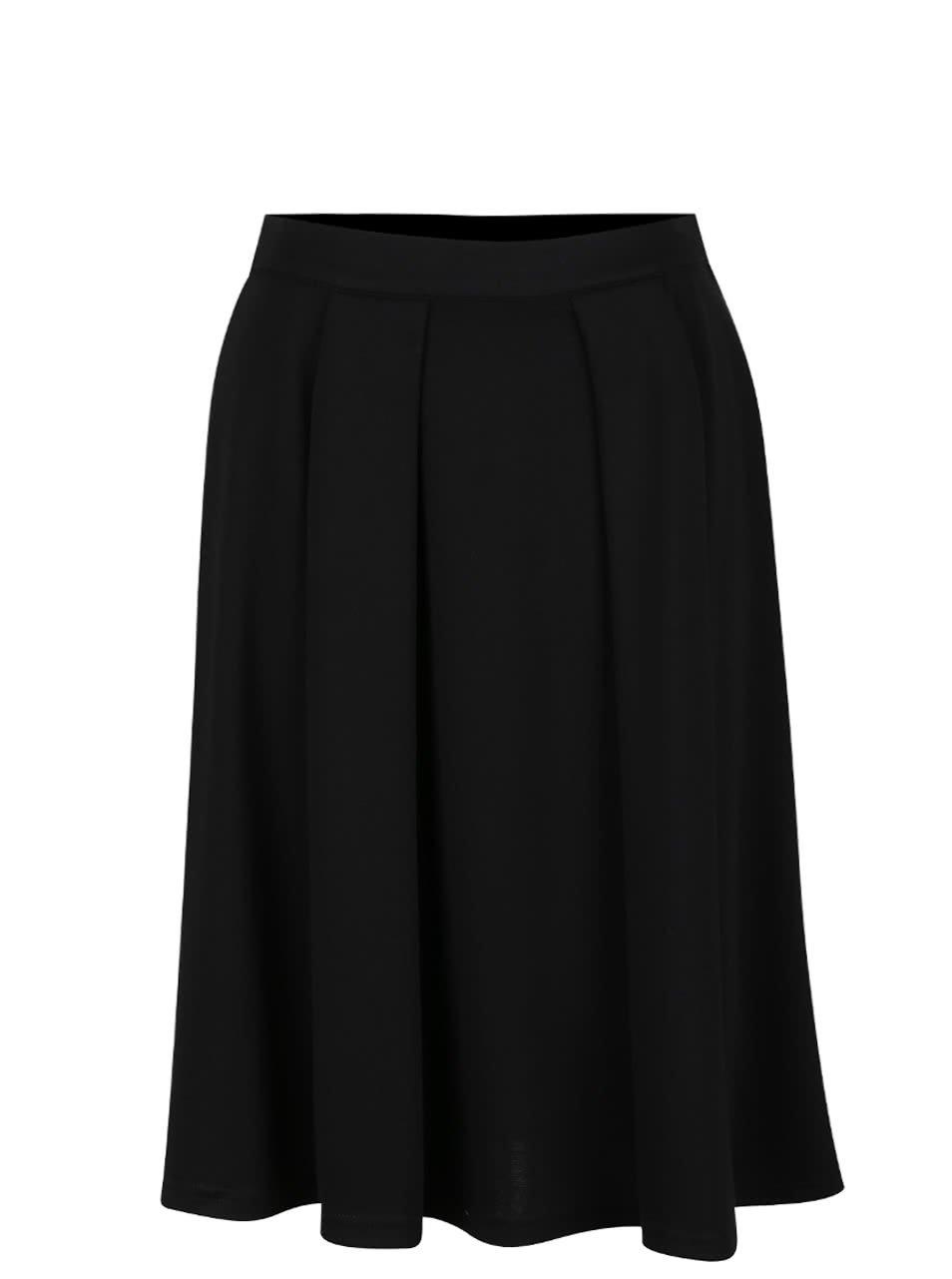 Černá skládaná sukně VILA Skate