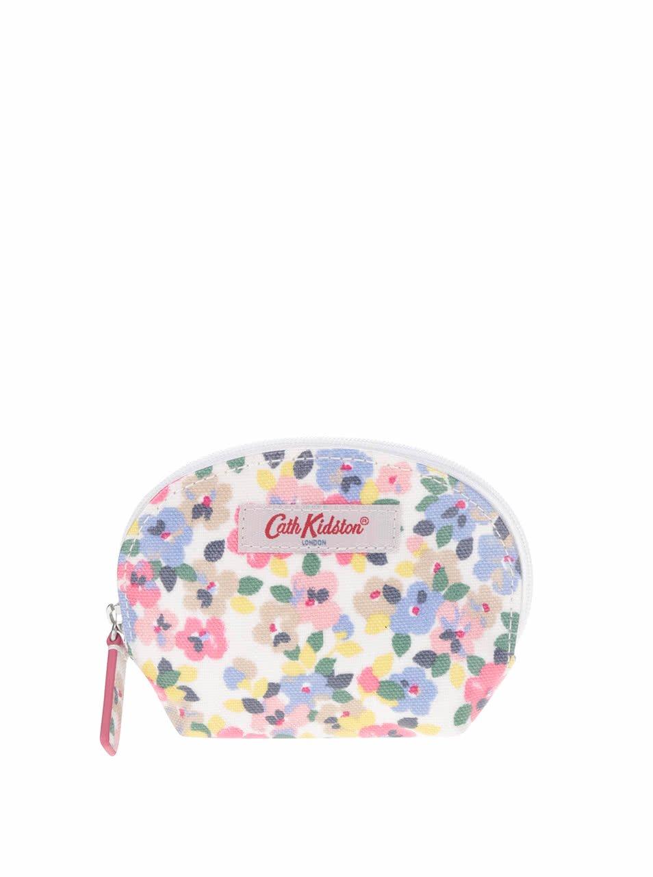 Modro-růžová květovaná peněženka na drobné Cath Kidston
